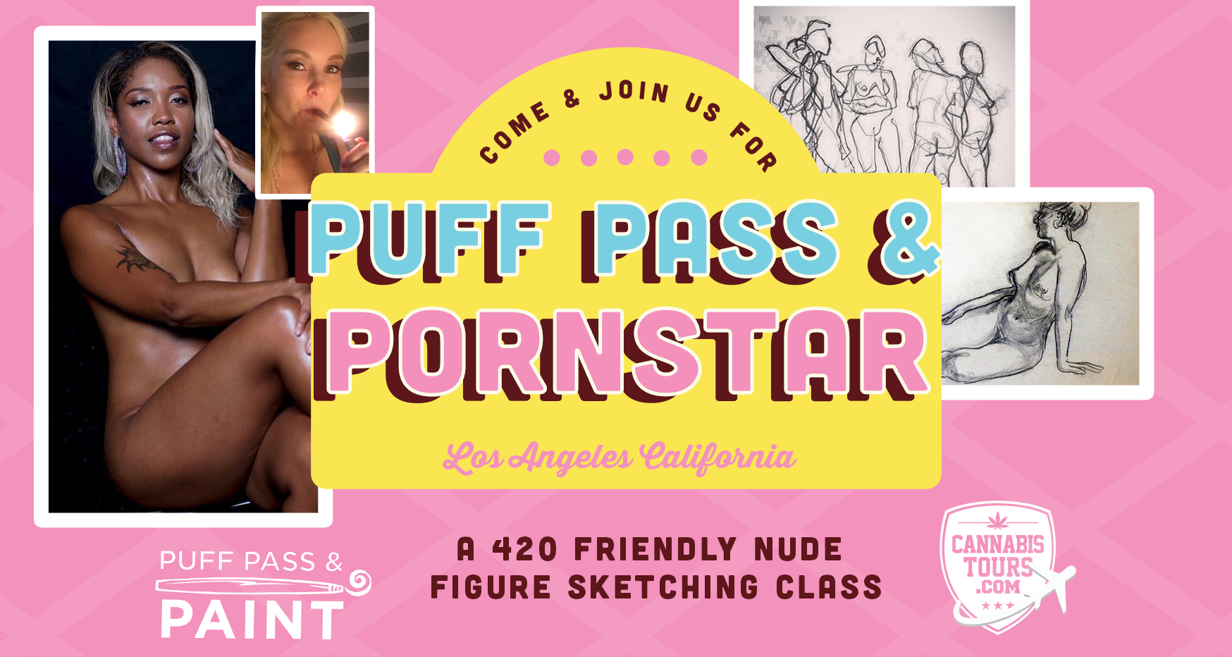 Puff Pass & Porn Star - a nude figure drawing class