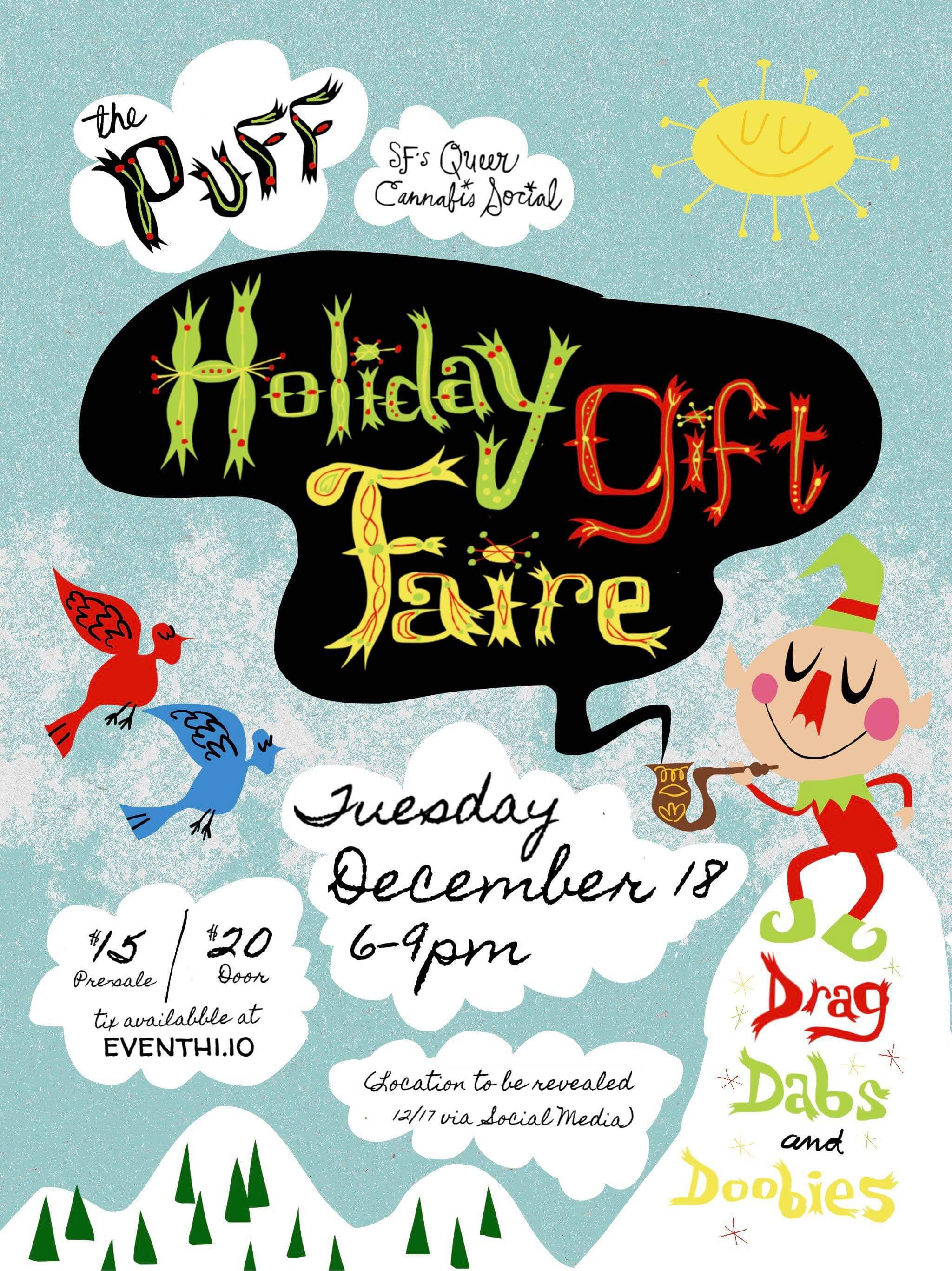 PUFF Holiday Drag Party and Craft Faire