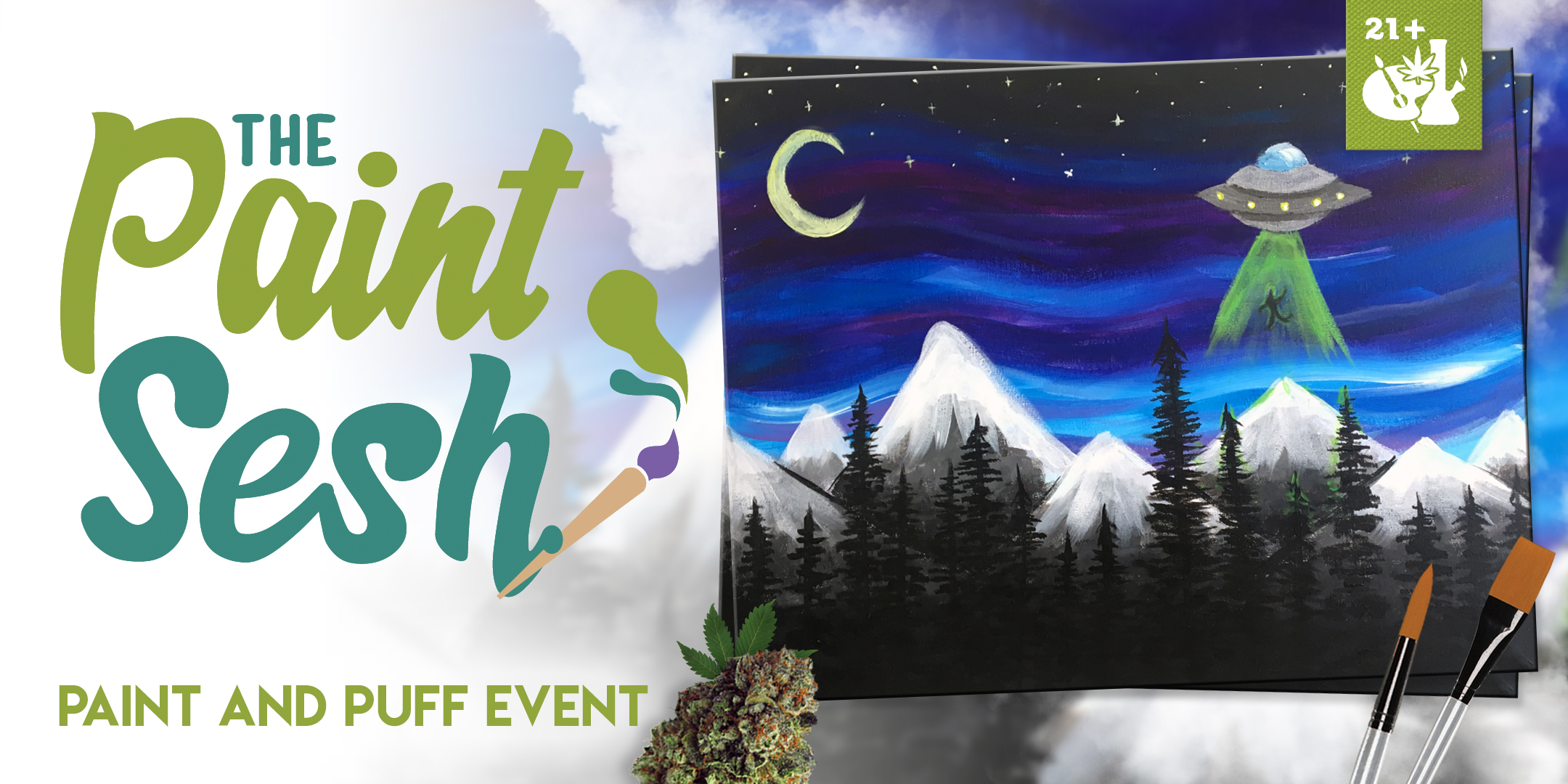 "Paint & Puff Event – San Diego, CA – ""I Believe"""