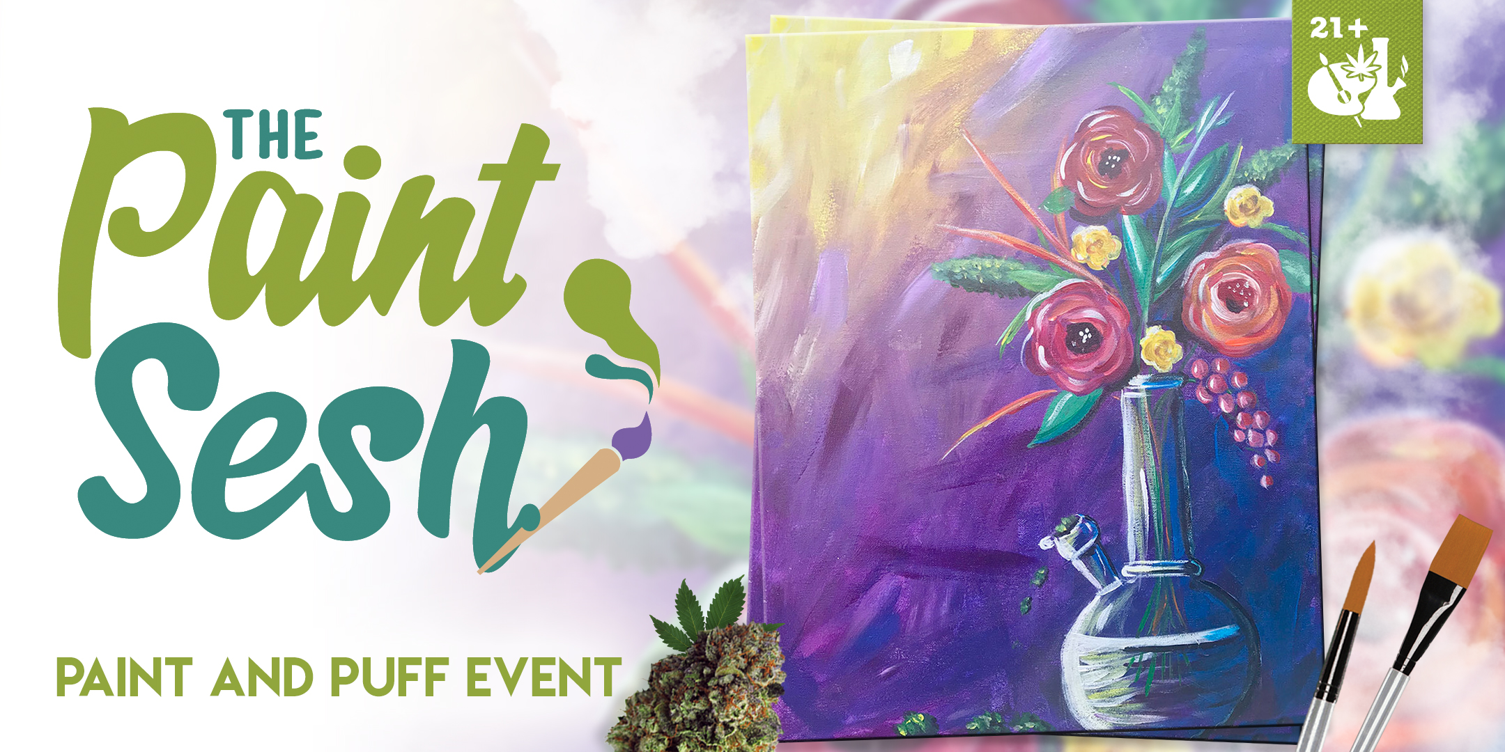 "Paint & Puff Event – San Diego, CA – ""Mary Jane's Vase"""