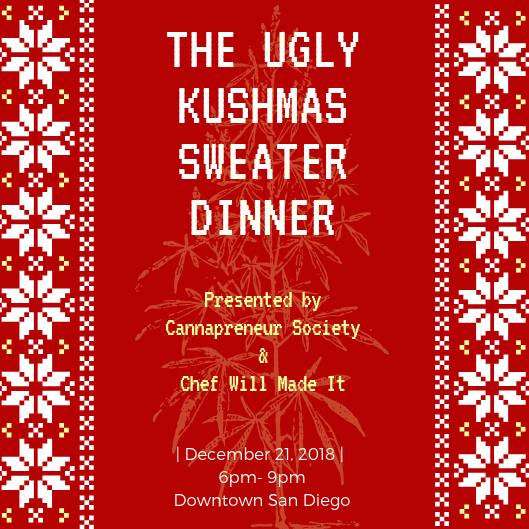 The Ugly Kushmas Sweater Dinner Party