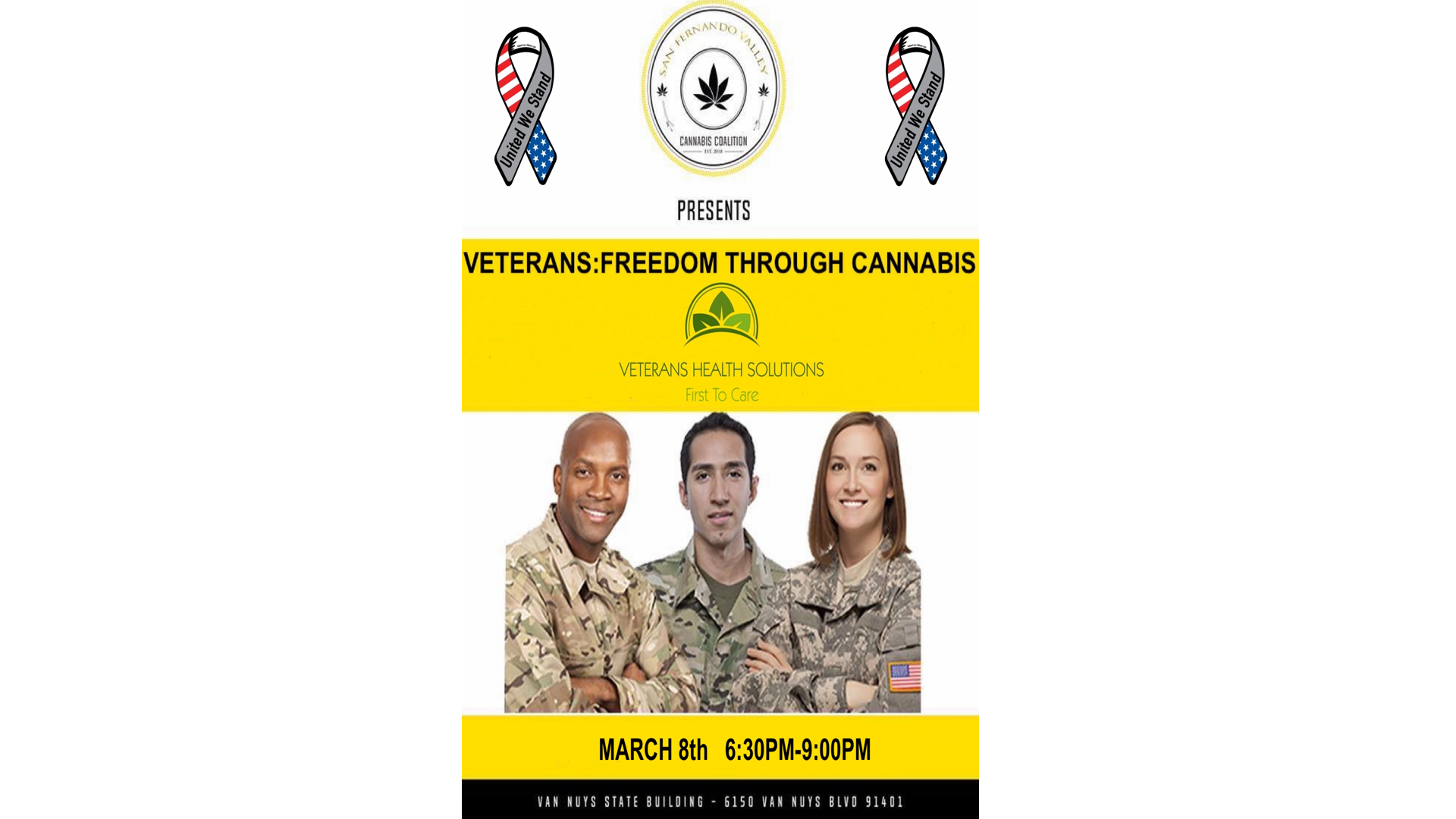 VETERANS: FREEDOM THROUGH CANNABIS/Moderated by Veterans Health Solutions
