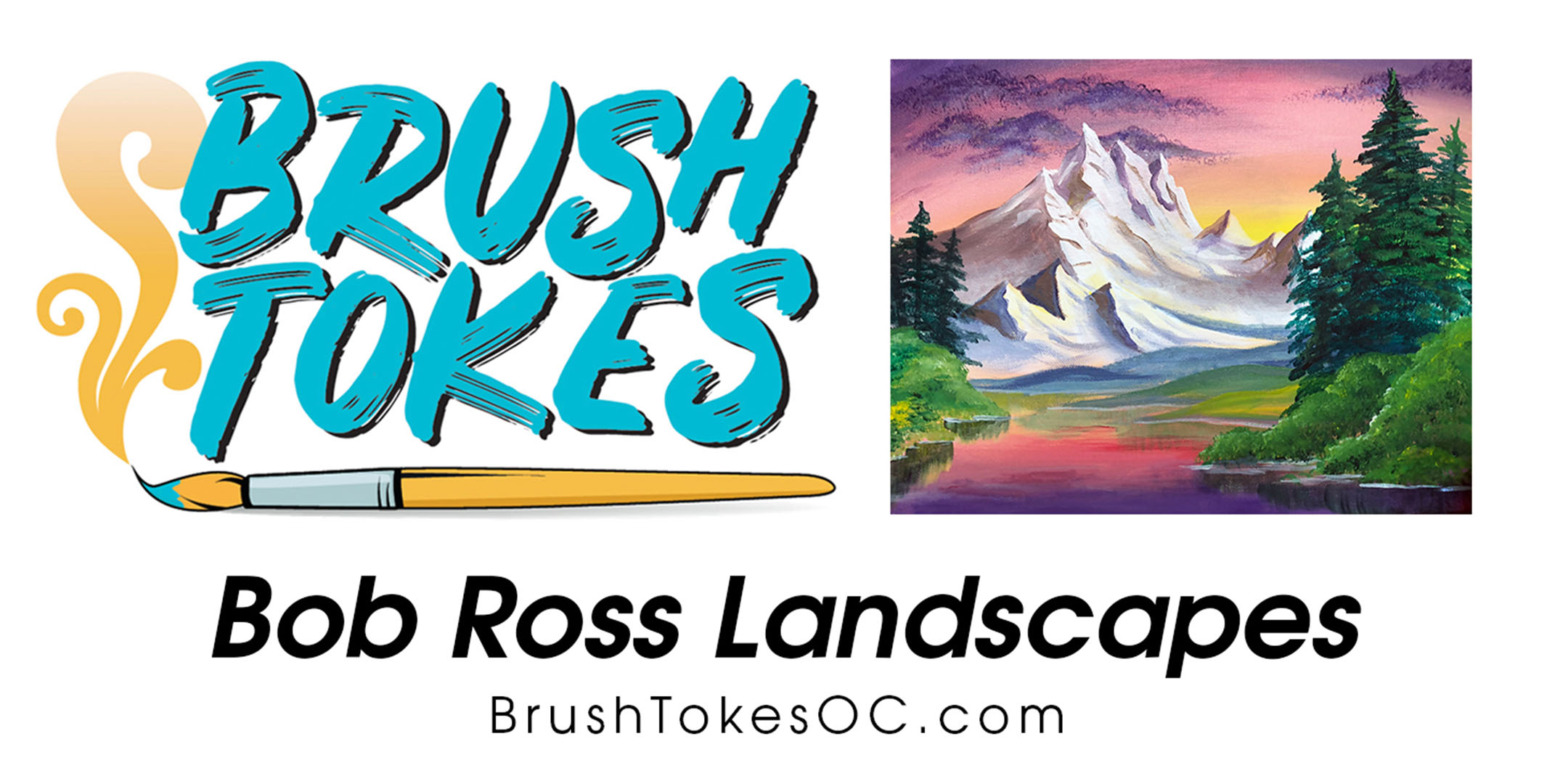 "Brush Tokes Puff & Paint Session ""Bob Ross Landscapes"""
