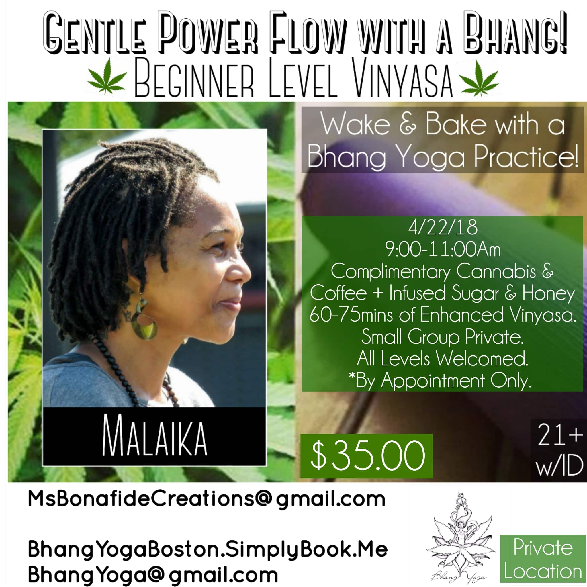 Gentle Power Flow Yoga with a Bhang