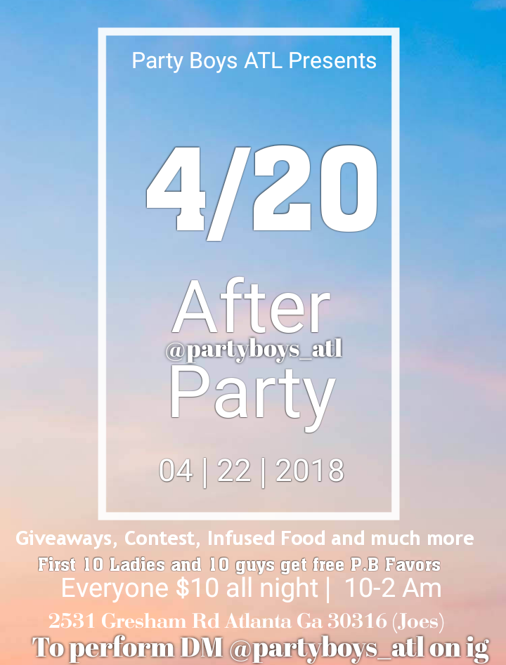Party boys after 4/20 Party