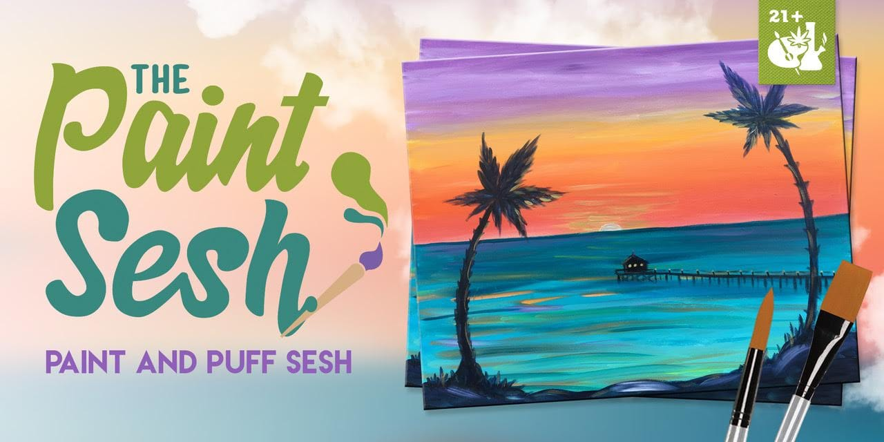"420 Friendly Painting Class in Santa Fe Springs, CA – ""Baja Pier"""