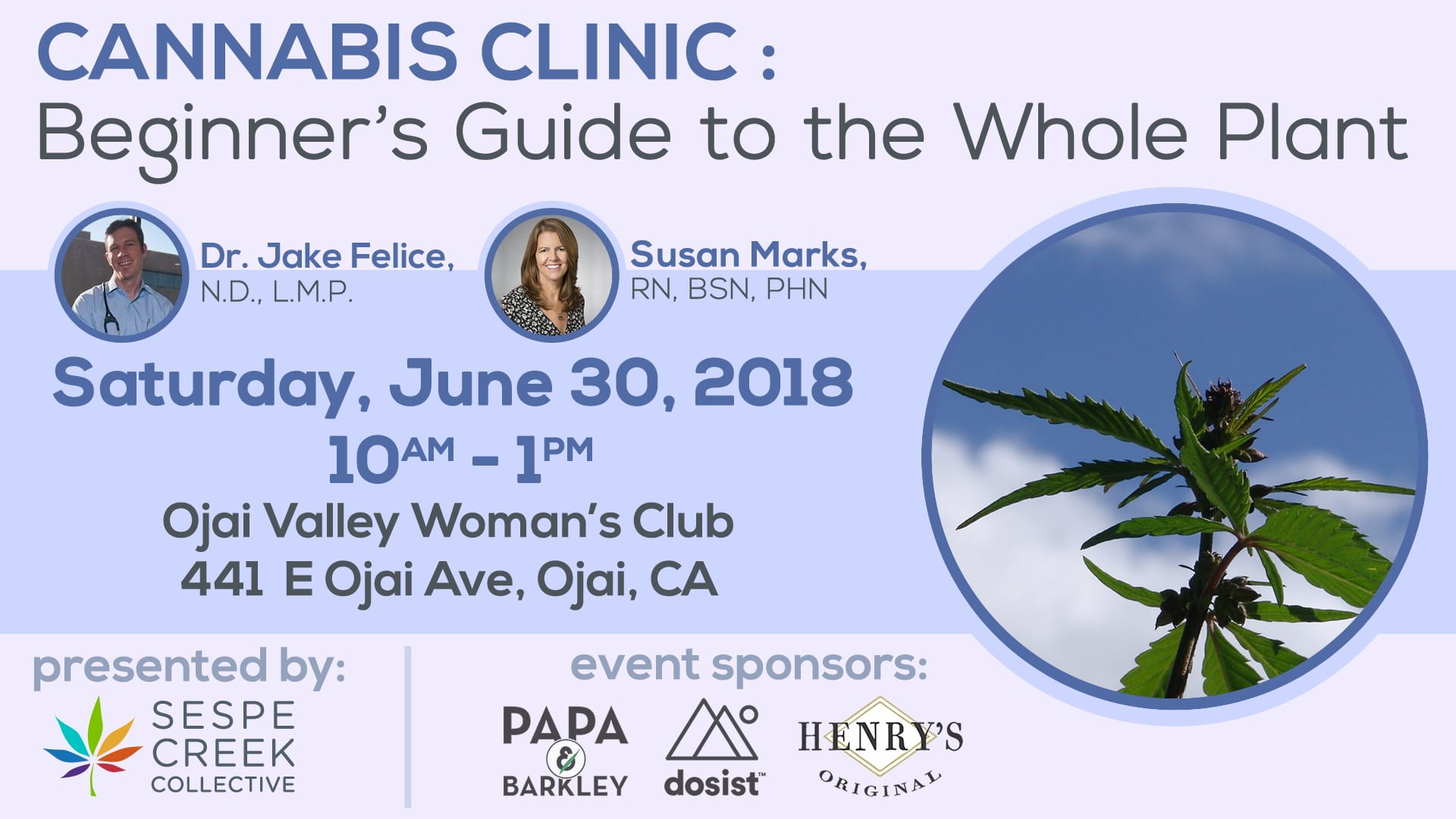 Cannabis Clinic: Beginner's Guide to the Whole Plant