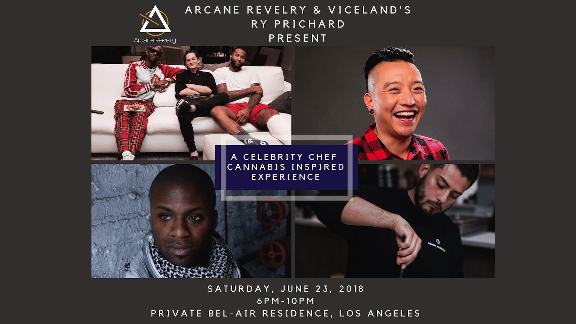 CANNABIS INSPIRED CELEBRITY CHEF EXPERIENCE (Advocate Sponsor)