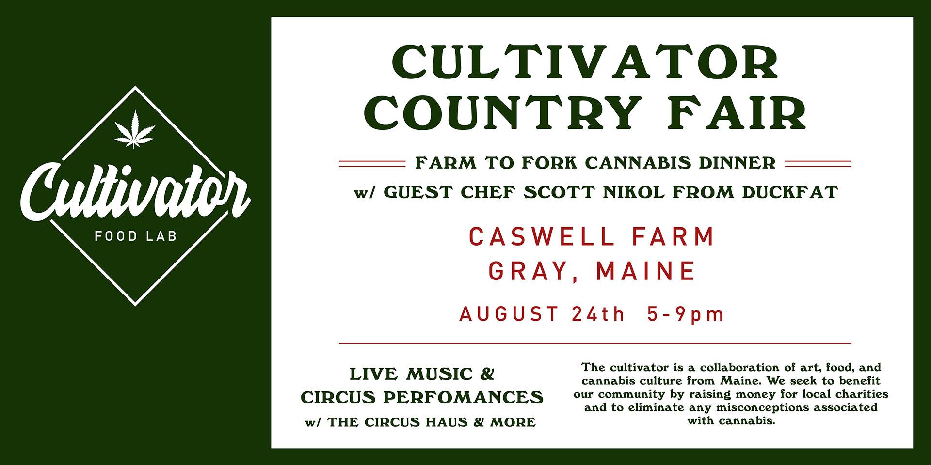 Cultivator Country Fair: Farm to Fork Cannabis Dinner