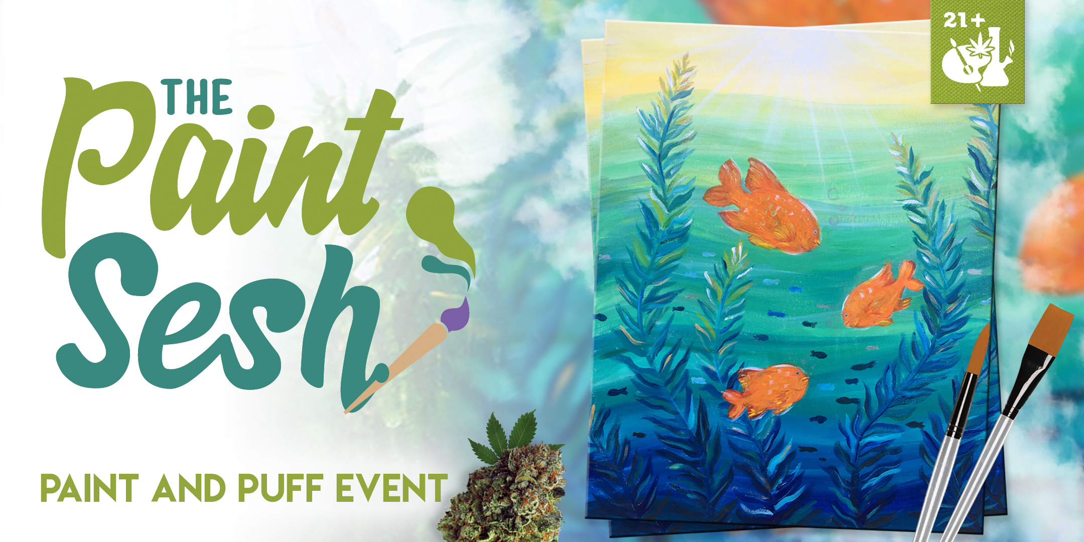 "420 Friendly Paint Night San Diego, CA - ""Garibaldi Fish"""