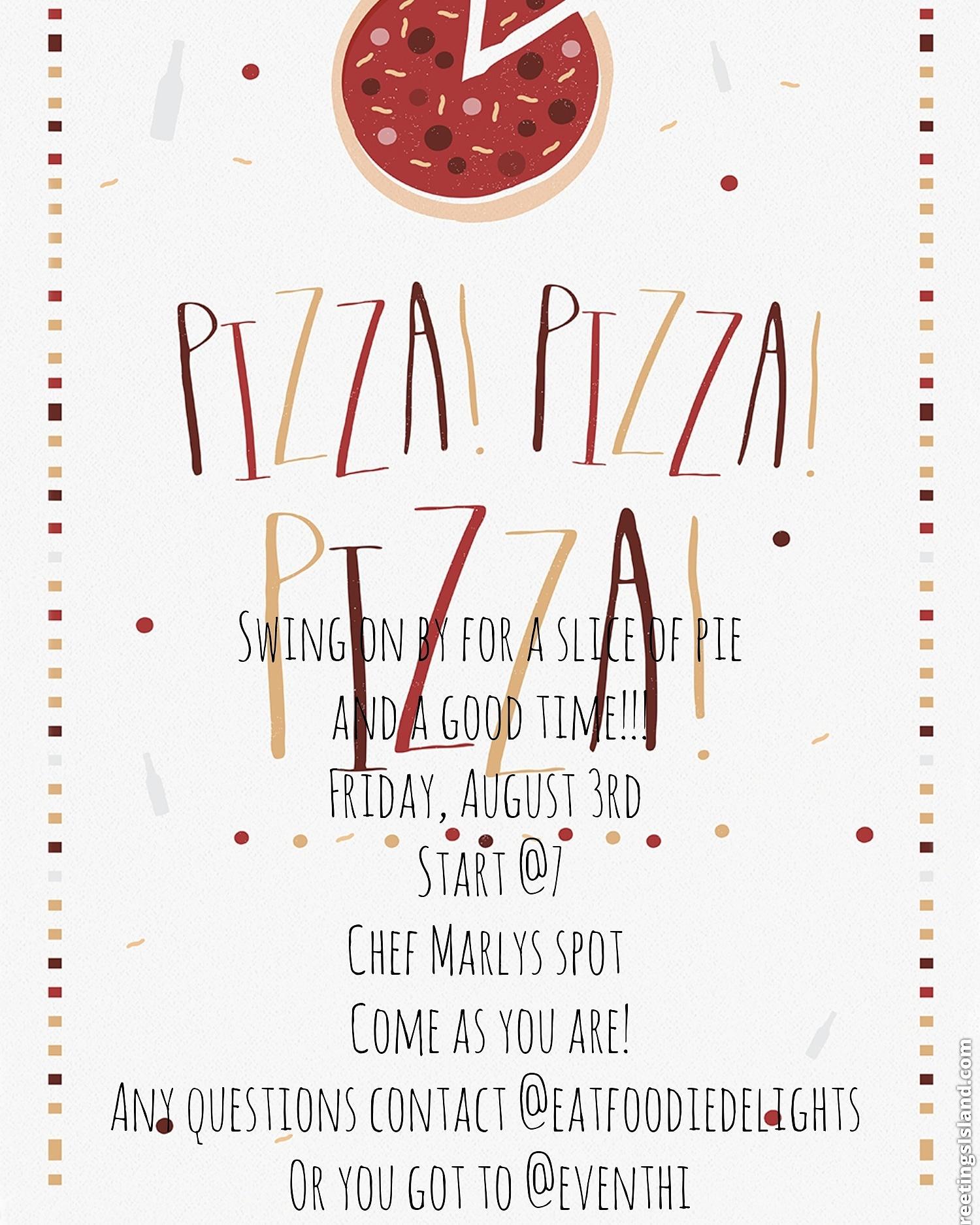 Pizza Night/Grown folks Friday