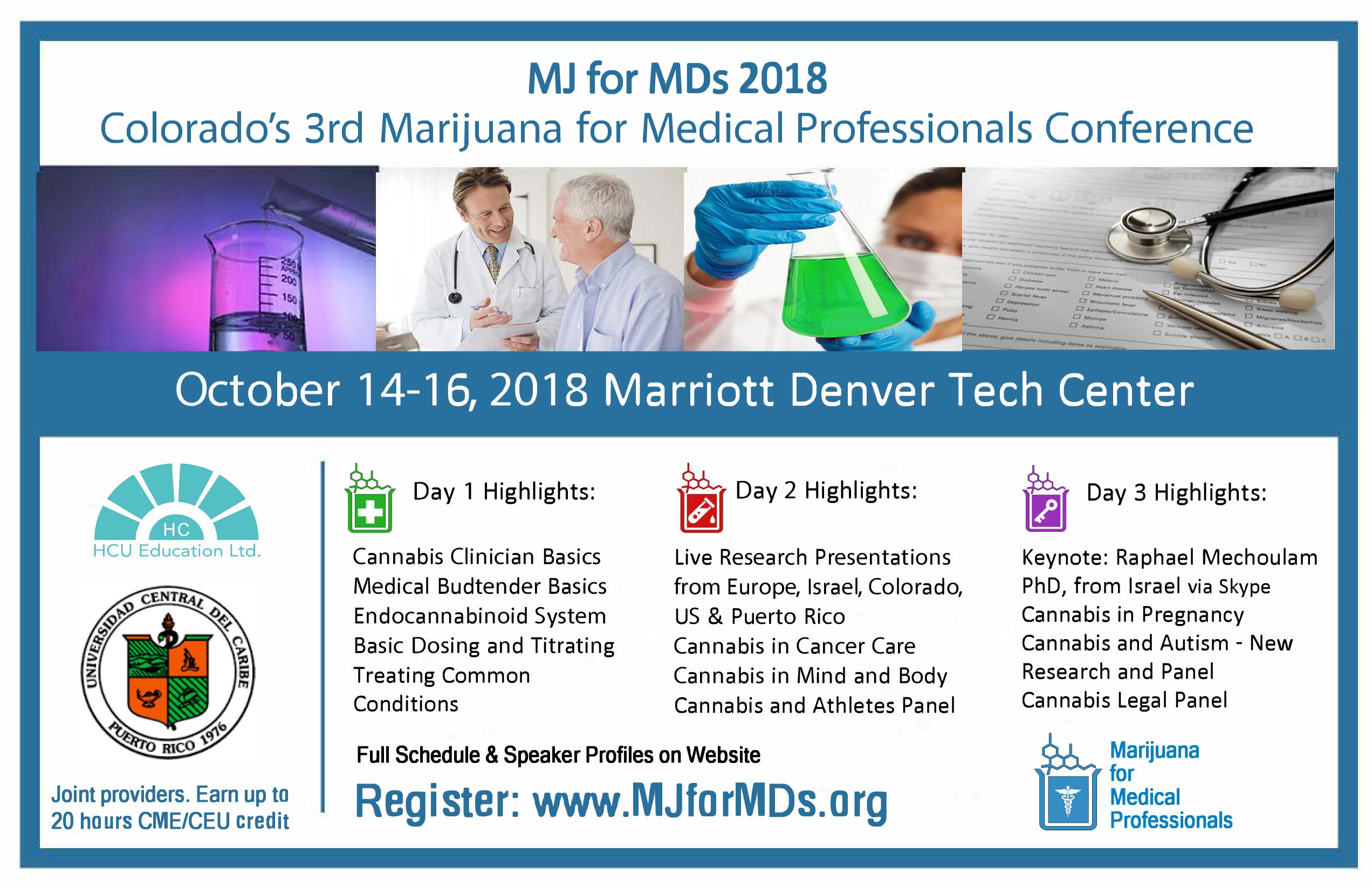 Marijuana for Medical Professionals III Conference 2018