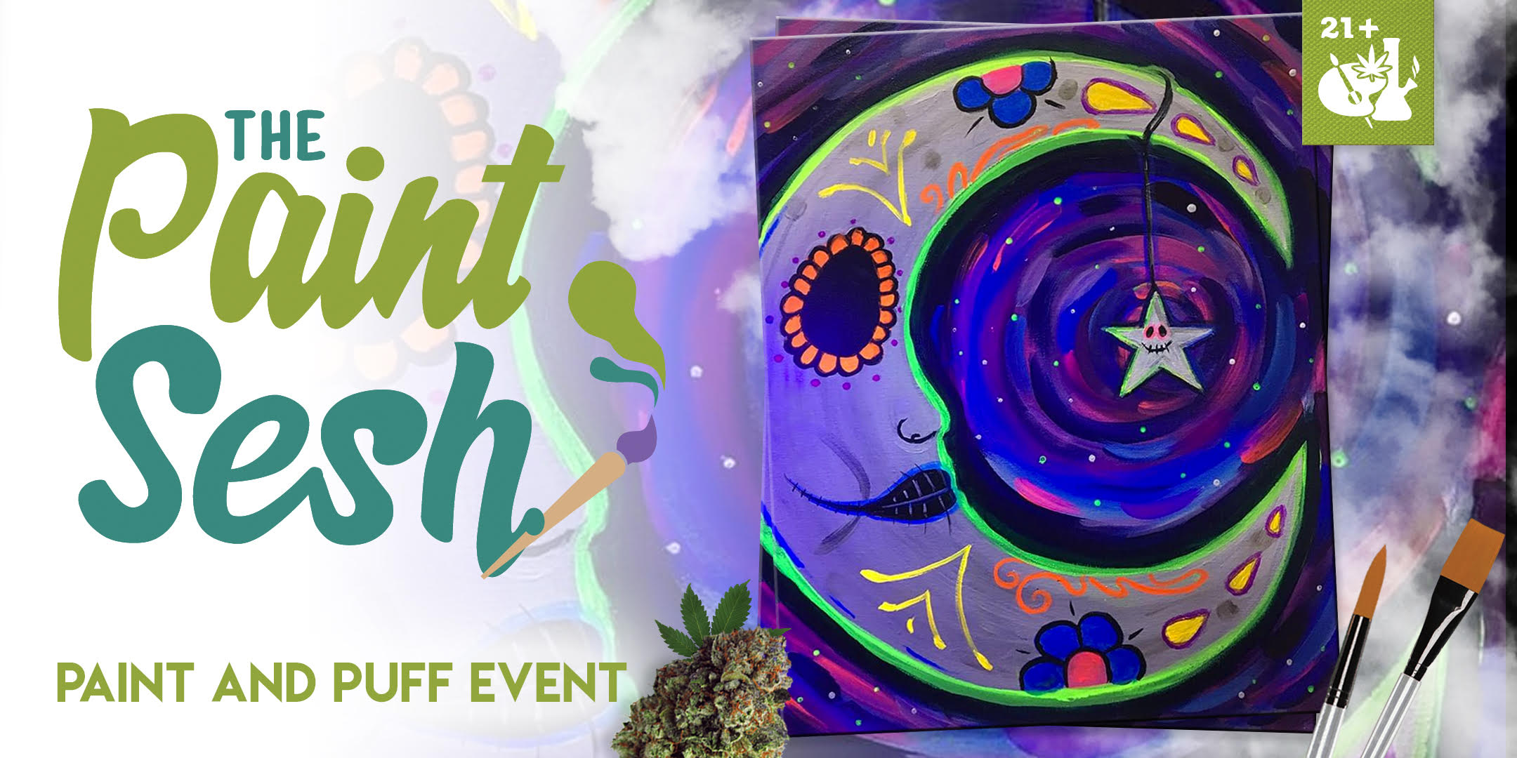 "420 Paint Night in Colton, CA – ""La Luna"""