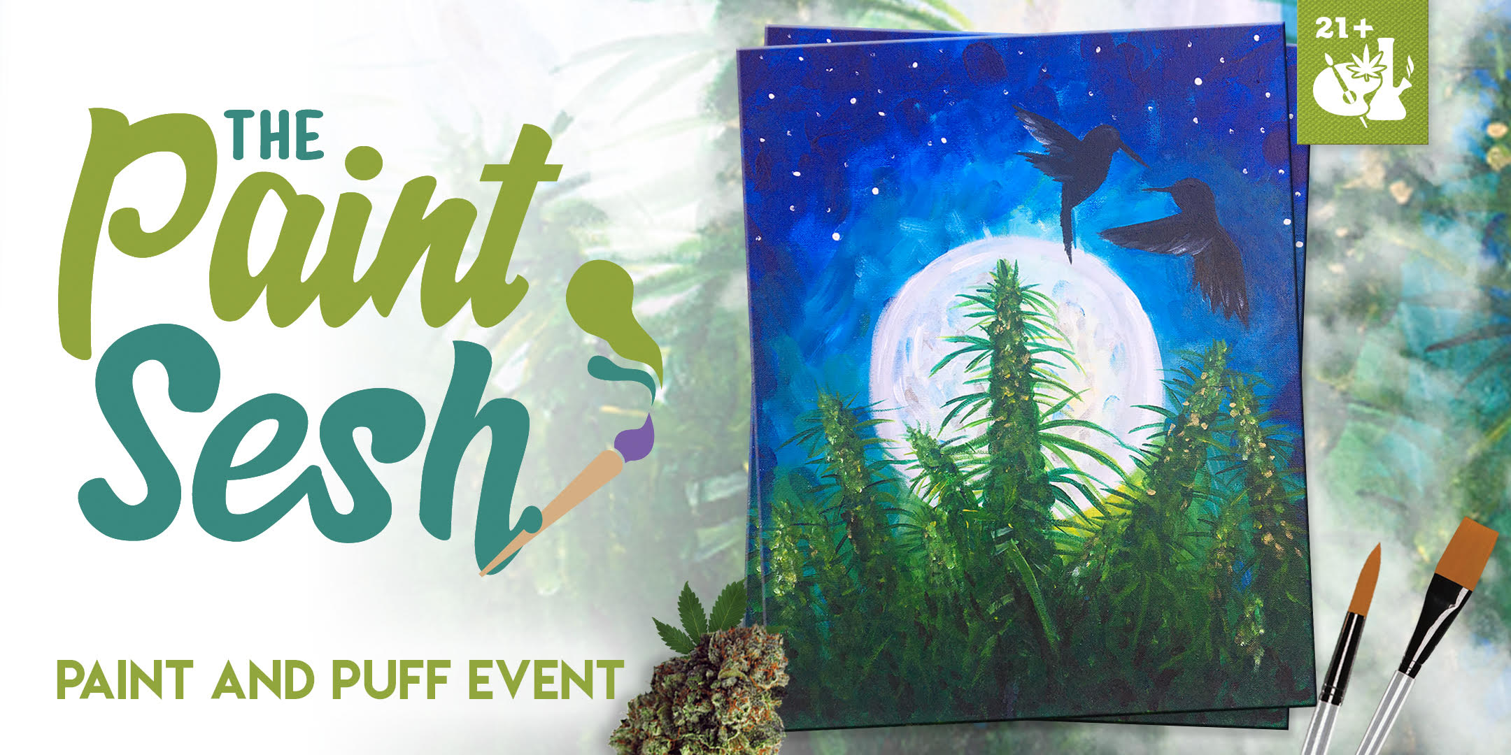 "420 Paint Night in San Diego, CA – ""Blue Dream"""