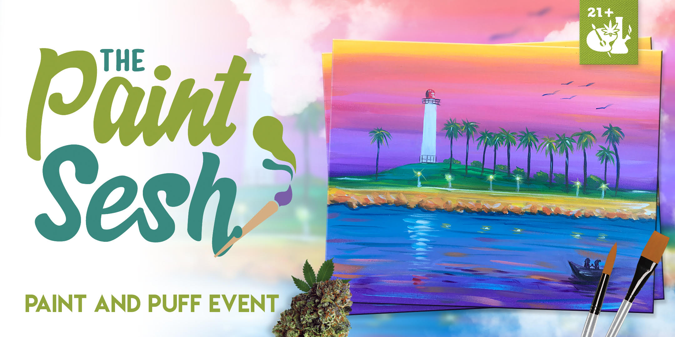 "420 Friendly Paint Night in Long Beach, CA – ""Love Long Beach"""