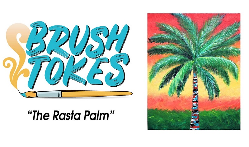 """THE RASTA PALM"" PAINT SESSION  - SEPTEMBER 23, 2018, 6-8 PM"