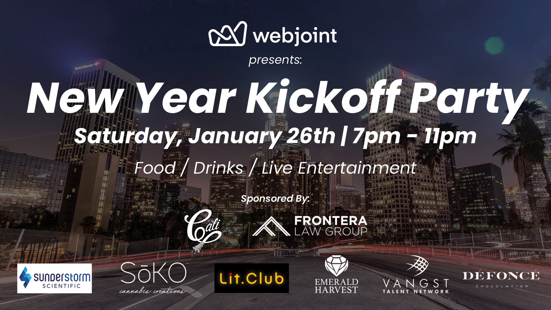 WebJoint x Cali Plug x Frontera Present: New Year Kick Off Party 2019
