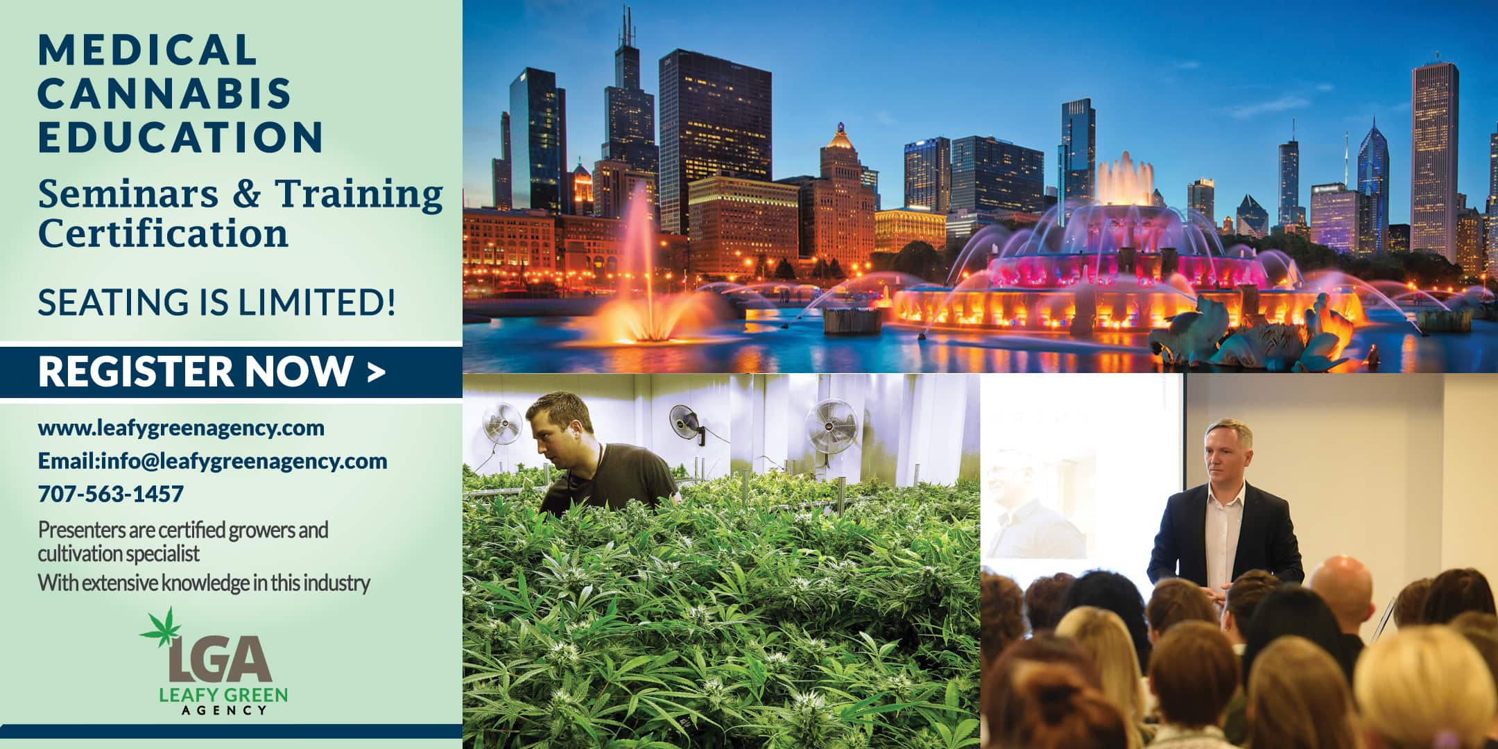 Cultivation and Growers Medical Marijuana Training Seminar-Chicago March 16th