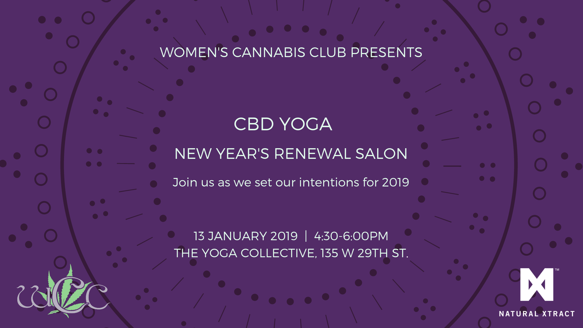 New Year's Renewal, Restorative CBD, Yoga Salon