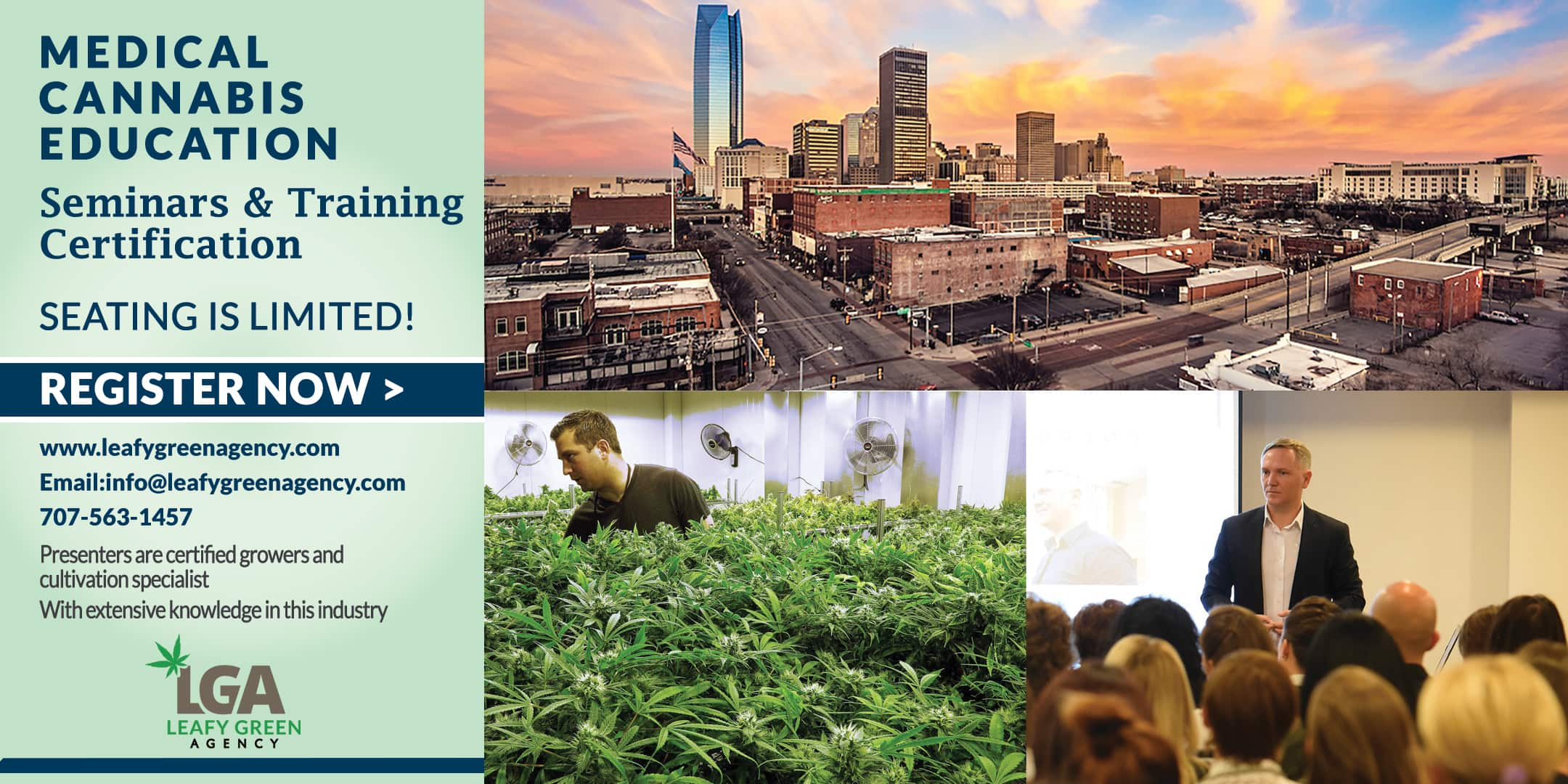 Oklahoma Cultivation and Grower  Medical Marijuana Training  Seminar