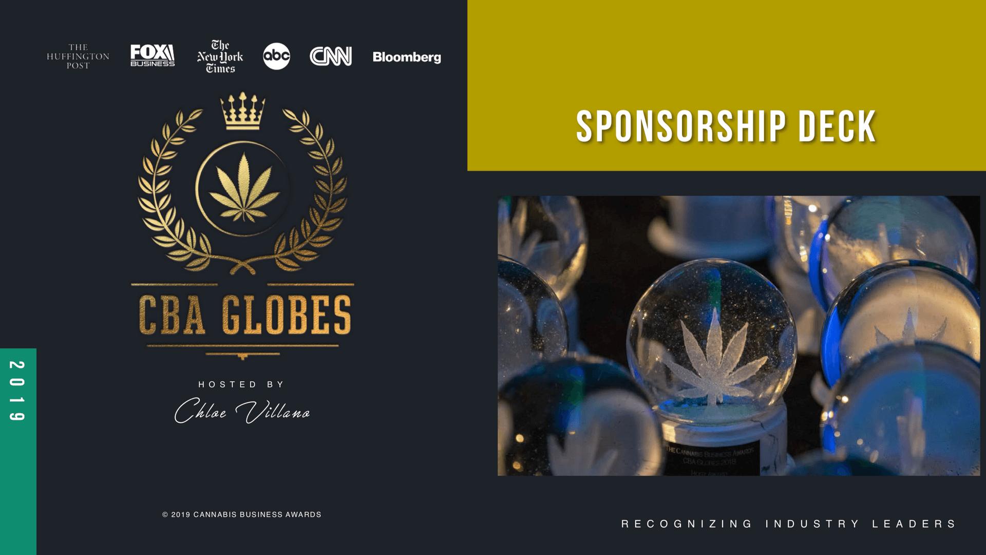 CBA Globe Awards 2019 International Awards Las Vegas Nevada (Sponsorship)