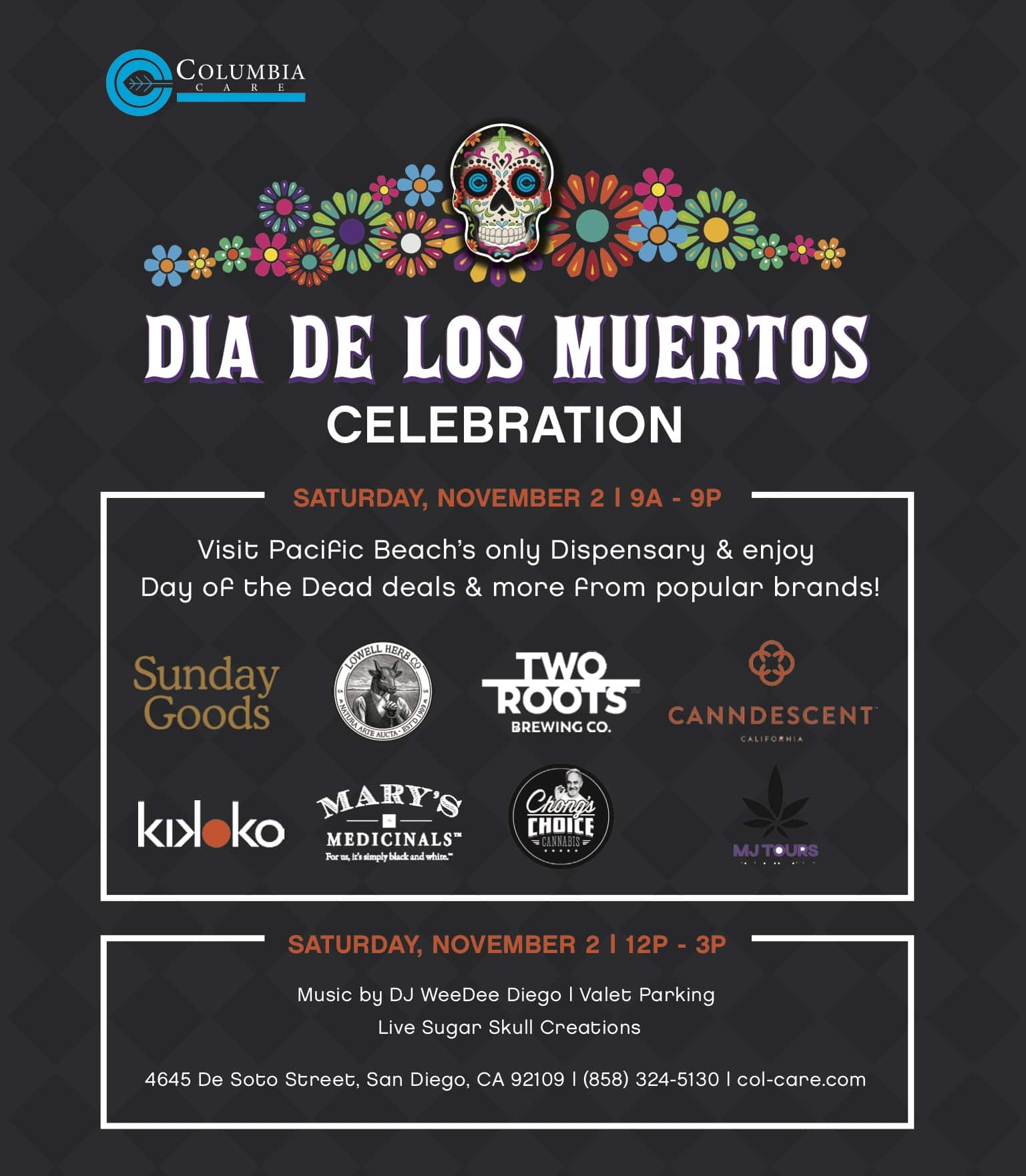 Columbia Care California Day of the Dead Celebration