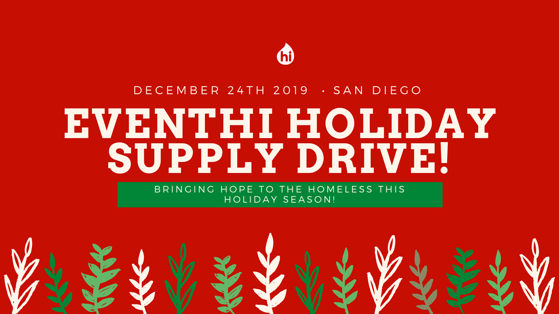 EventHi Holiday Supply Drive