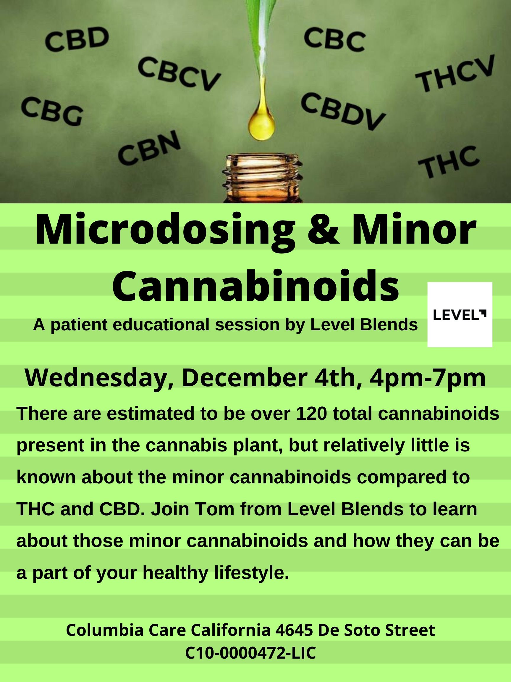 Microdosing and Minor Cannabinoids