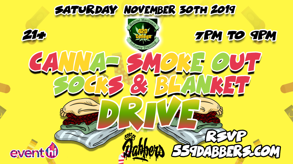 Cann SmokeOut  - Socks & Blanket Drive