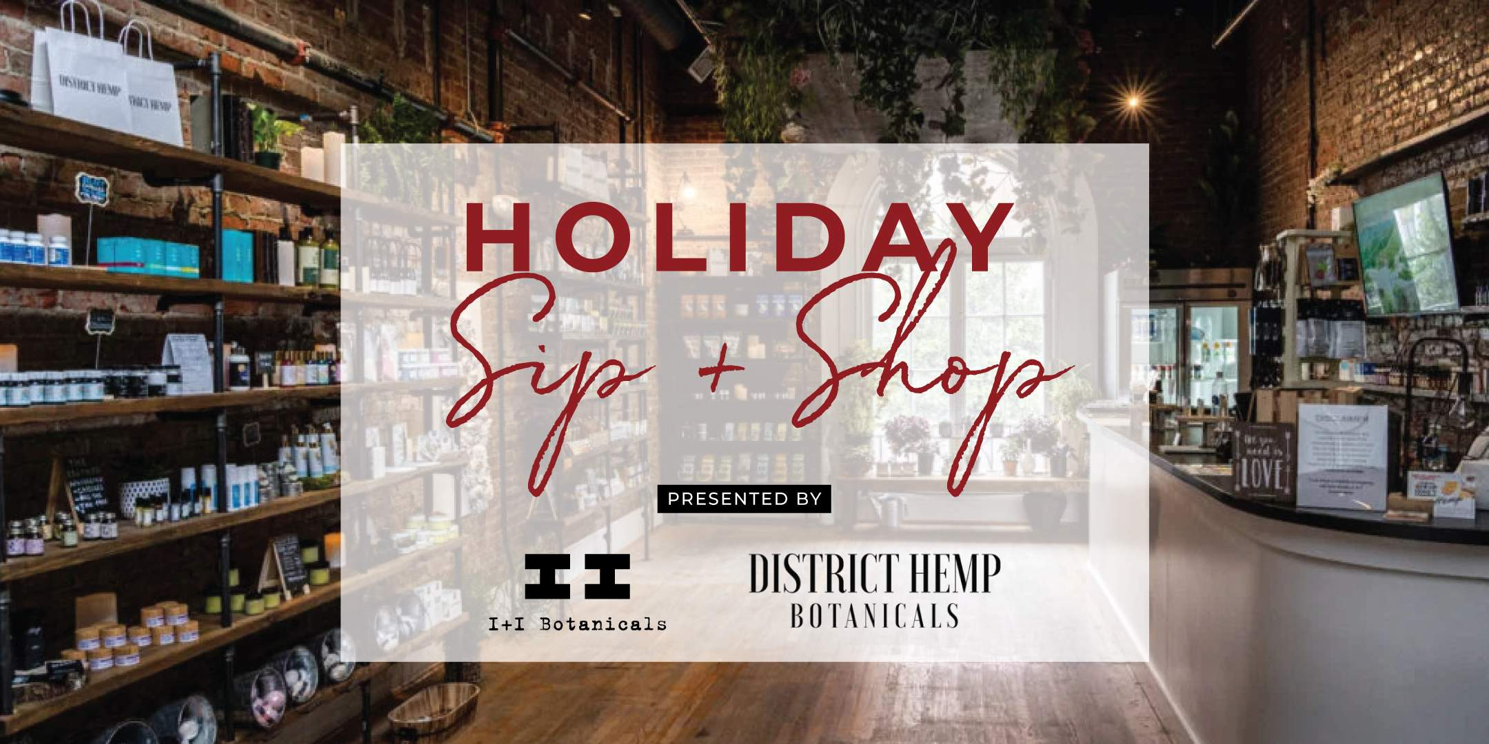 Holiday Sip + Shop Pop Up