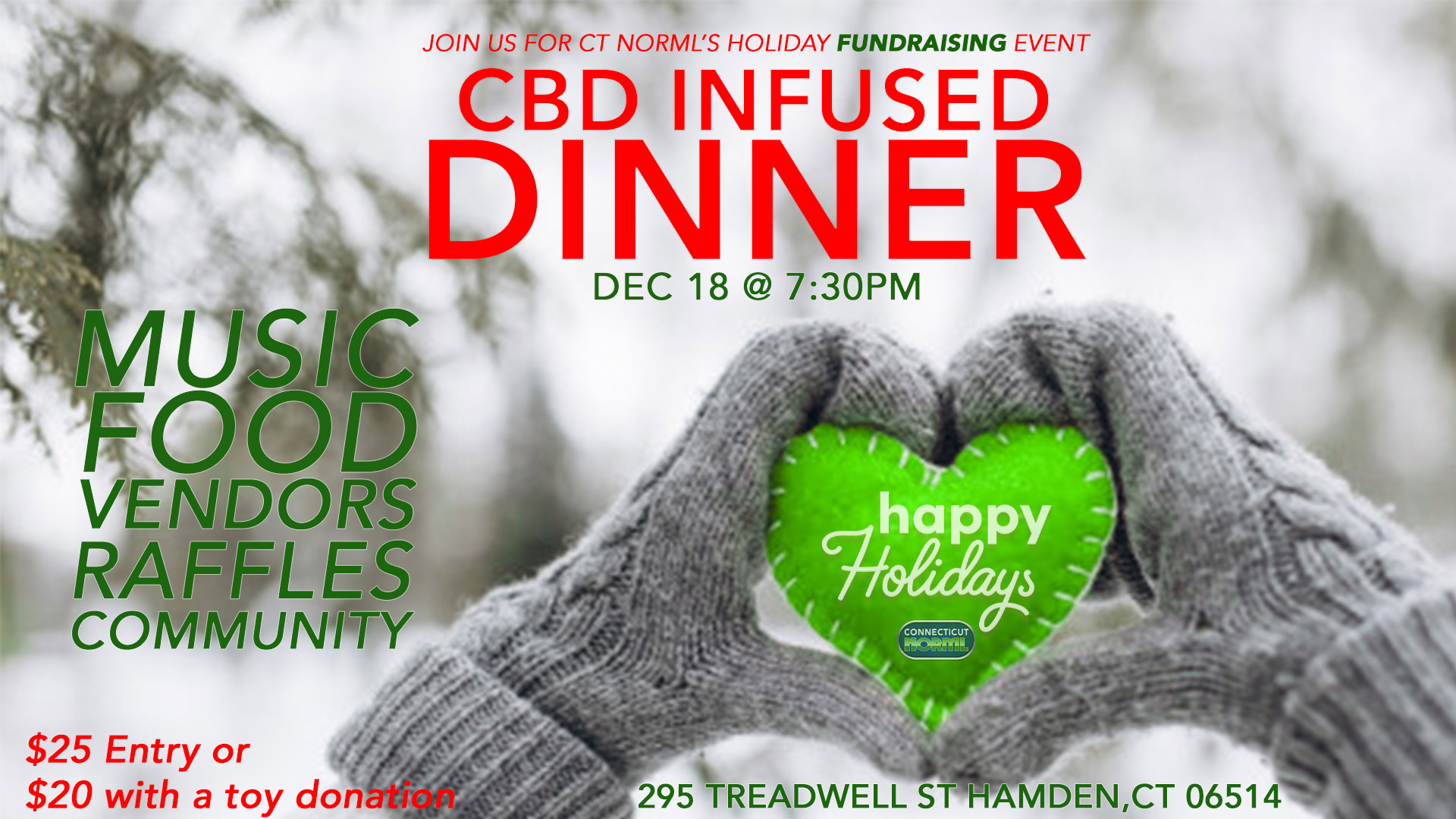 4th Annual CT NORML Holiday Party