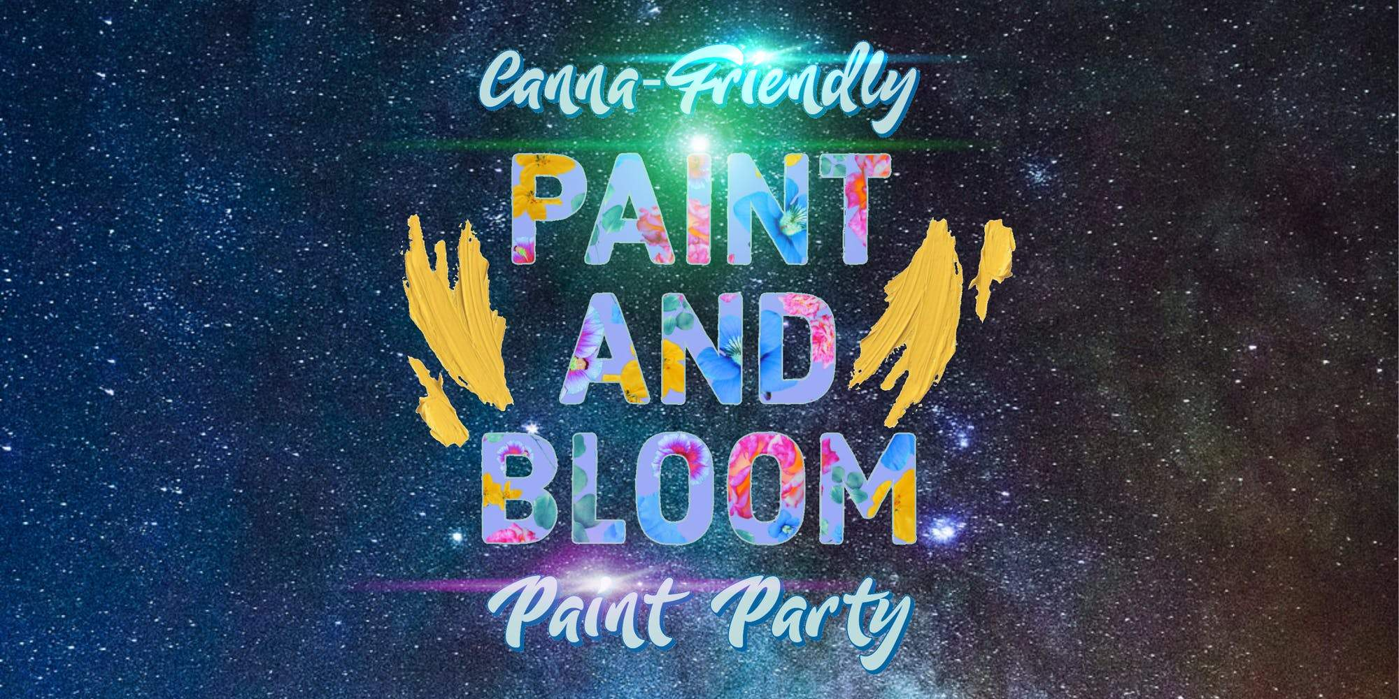 ✦ Paint And Bloom Bob Ross Themed Cannabis-Friendly Paint Party! ✦