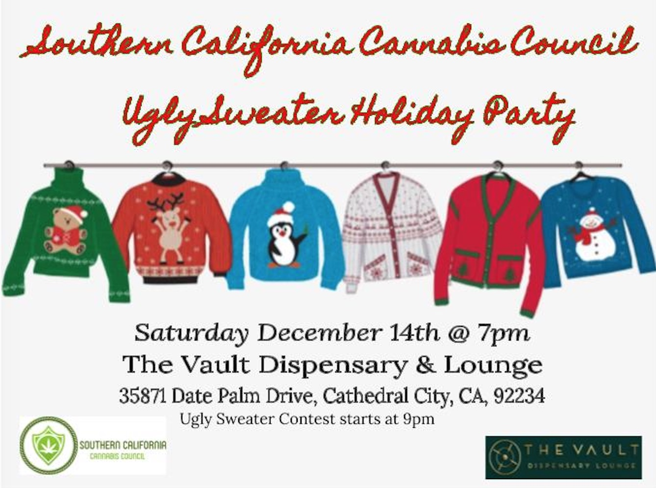 Southern California Cannabis Council Ugly Sweater Holiday Party