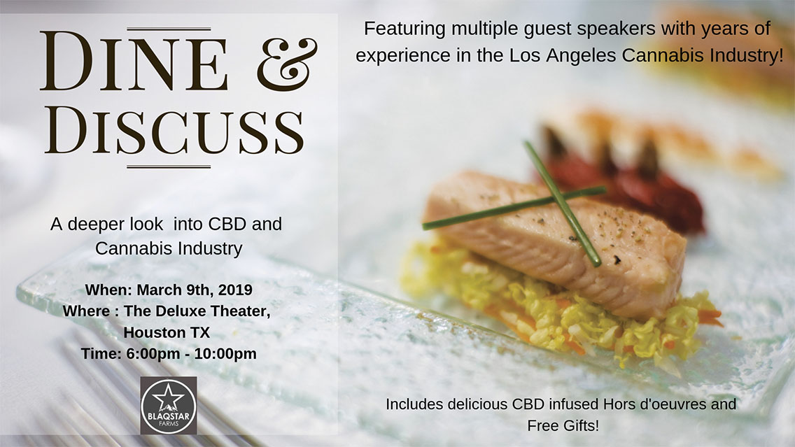 Dine and Discuss: An evening with noted leaders of the Los Angeles CBD and Cannabis Industry