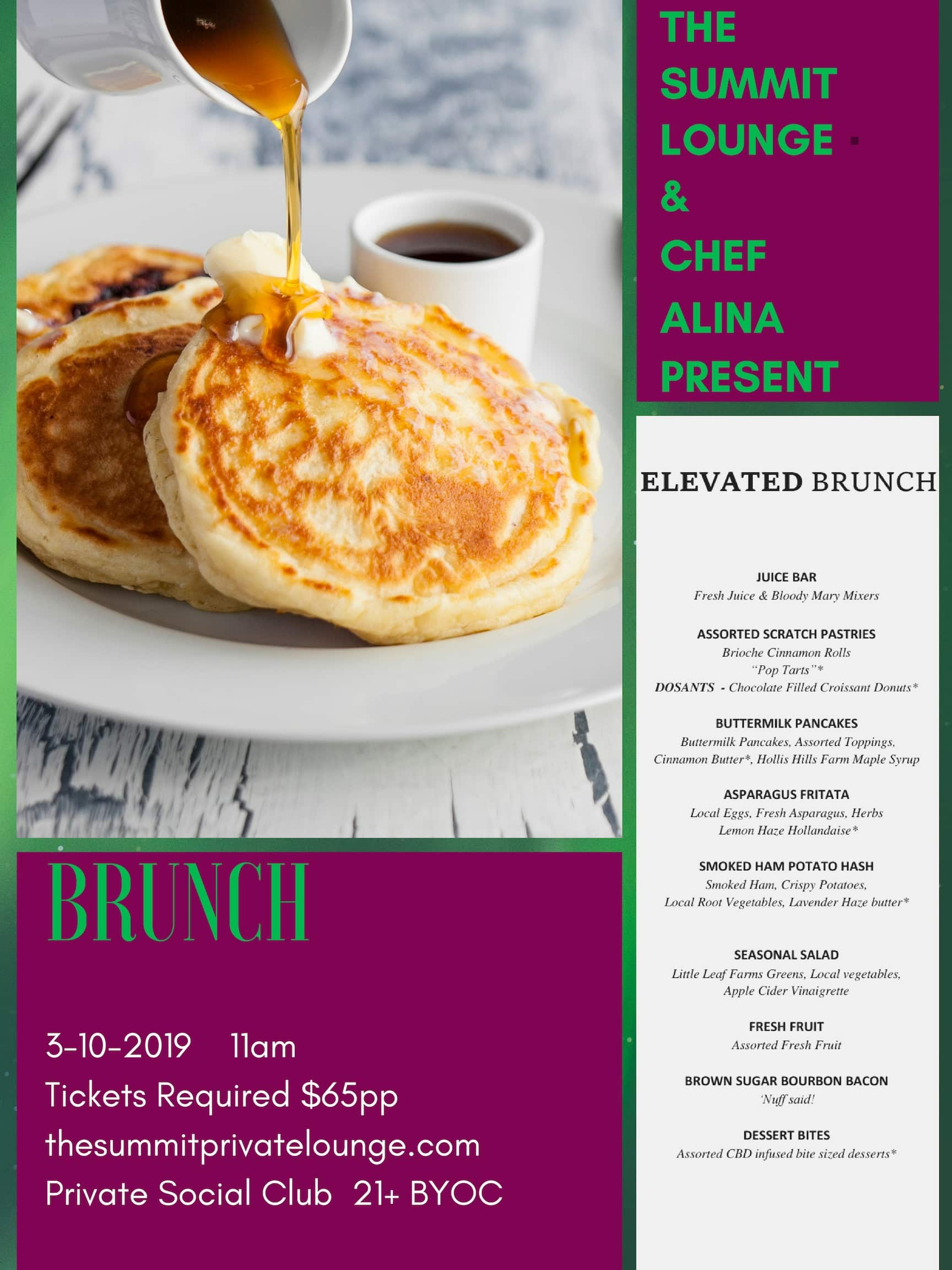 Elevated Brunch at the Summit Lounge