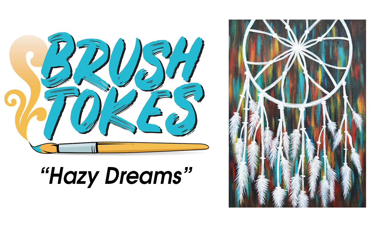 "BrushTokes 420-Friendly All-Inclusive Paint Session - ""Hazy Dreams"""
