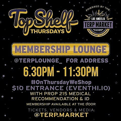 Top Shelf Thursday Los Angeles 2/7/2019