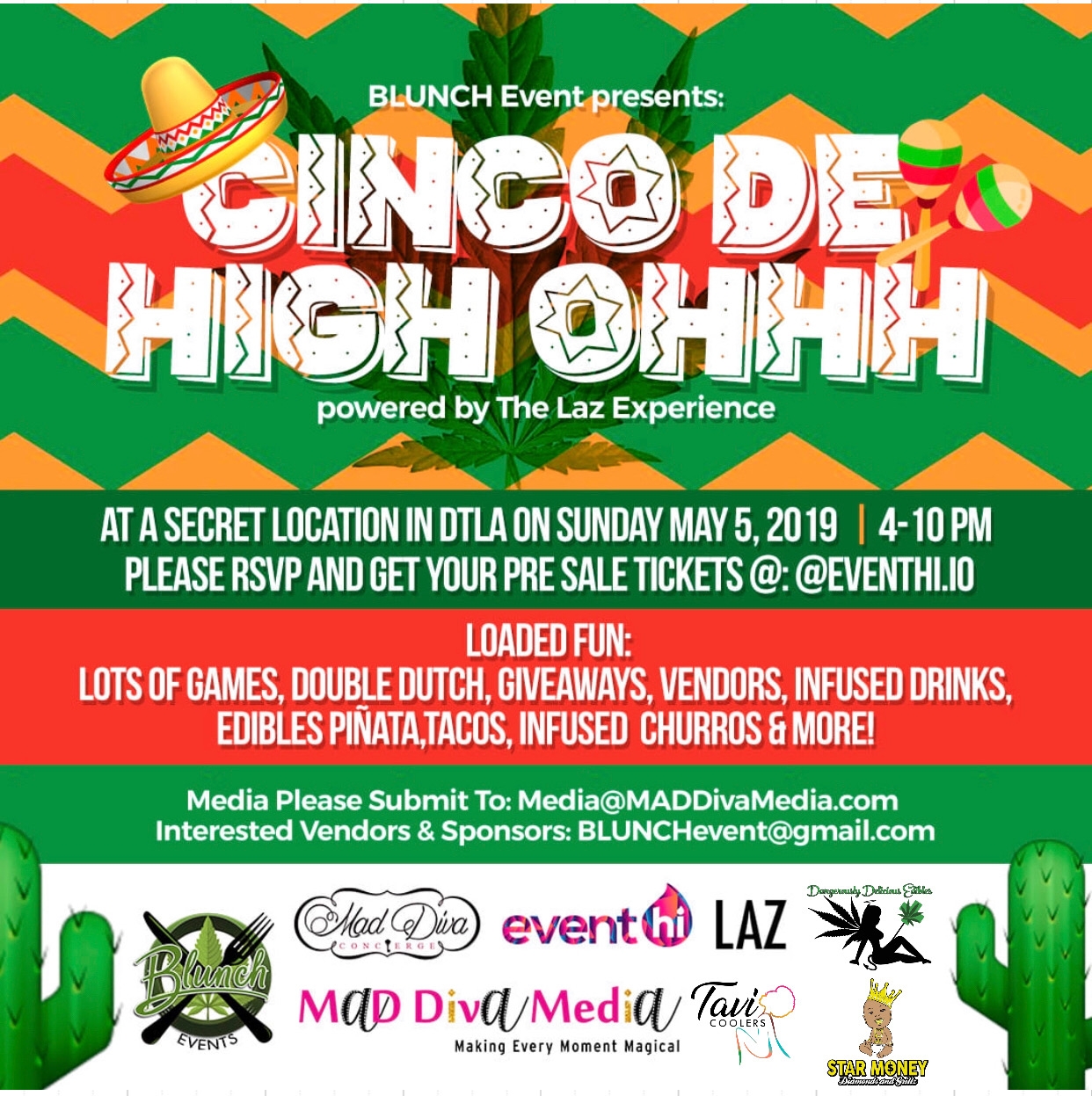 BLUNCHevent presents Cinco De High Ohhh Powered by The Lazarus Experience