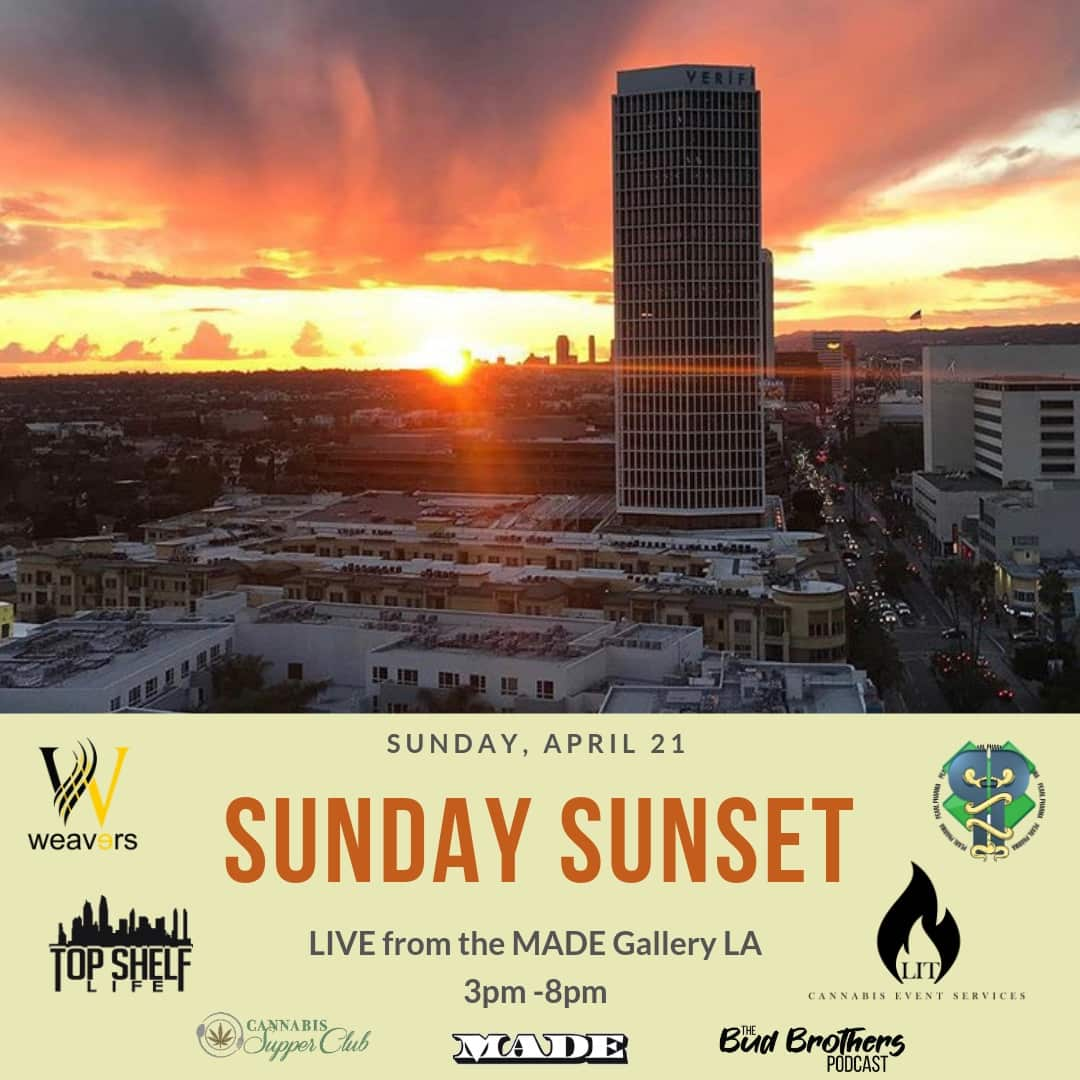 Easter Sunday Sunset at MADE LA Penthouse