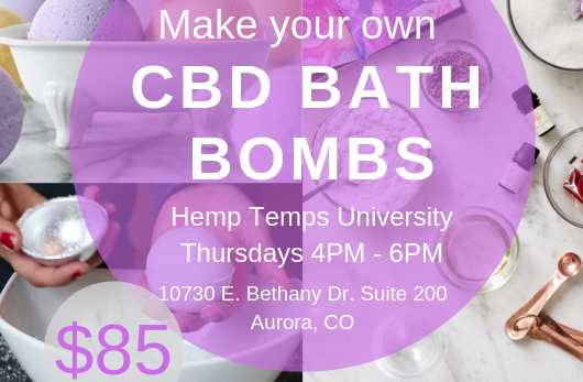 CBD Infused Bath Bomb Class