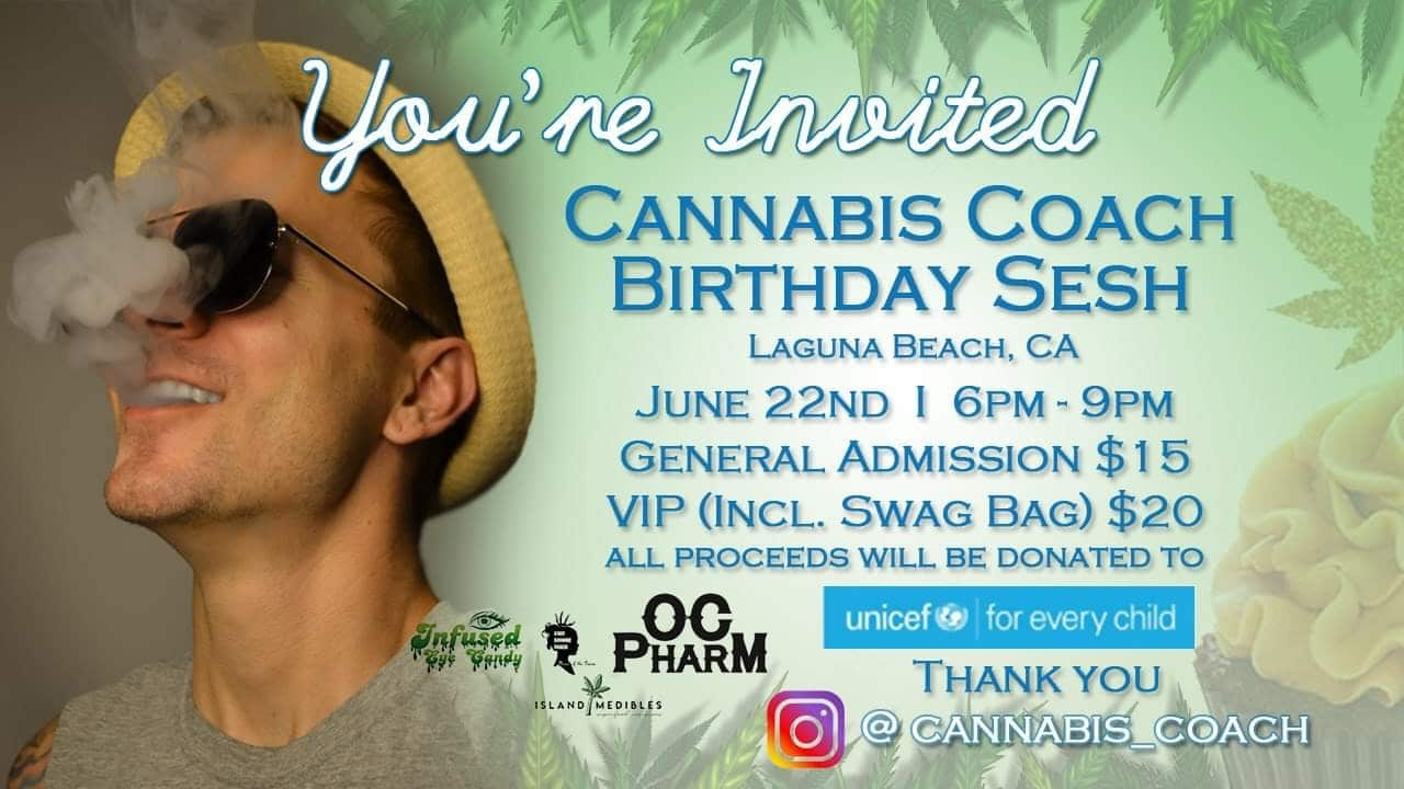 Cannabis Coach Birthday Sesh