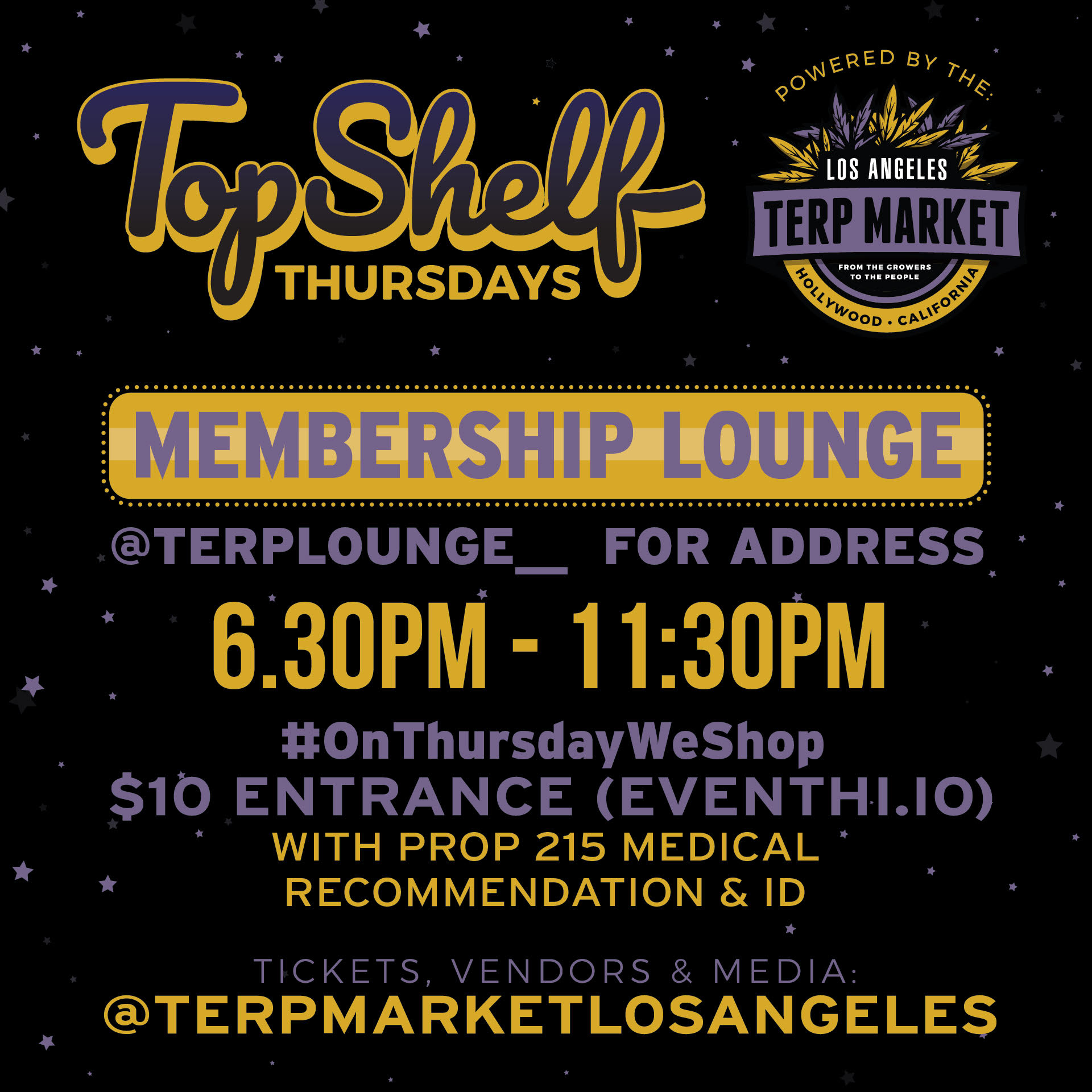 Terp Market Top Shelf Thursday Los Angeles 5/23