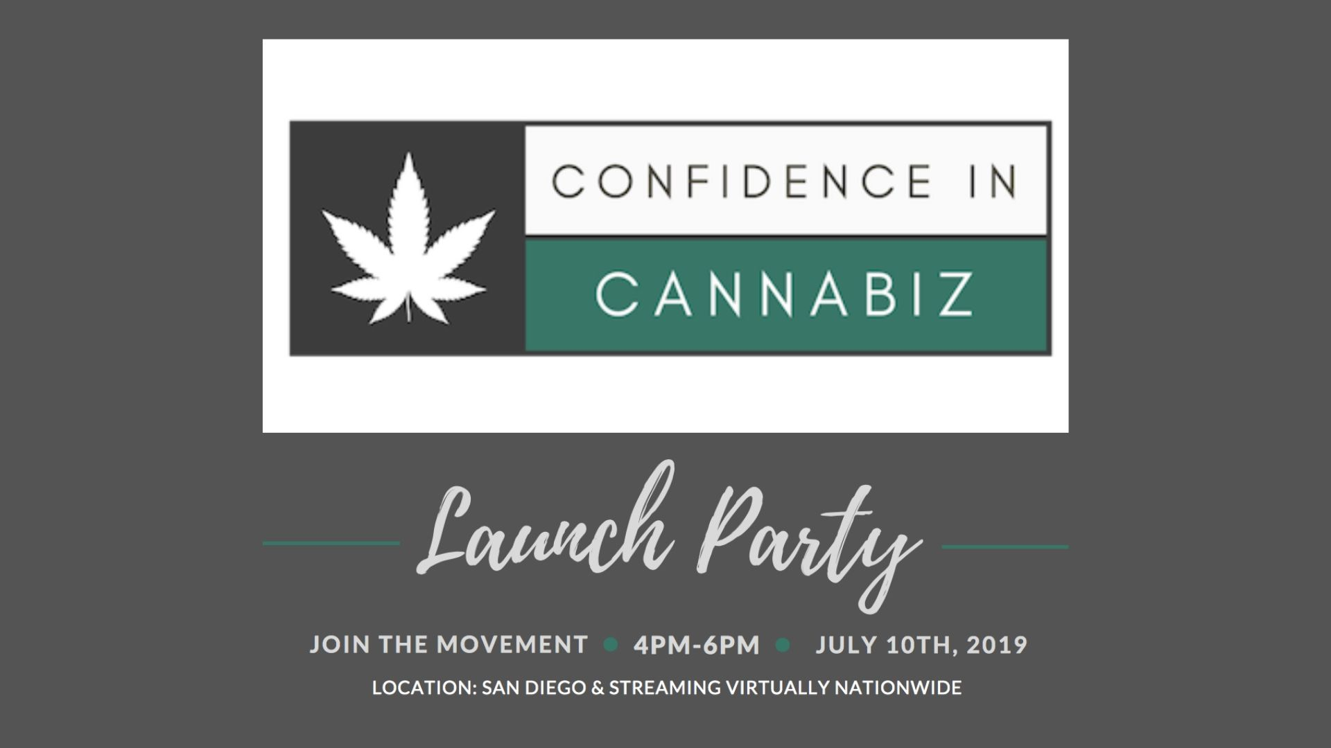 Confidence in Cannabiz Launch Party