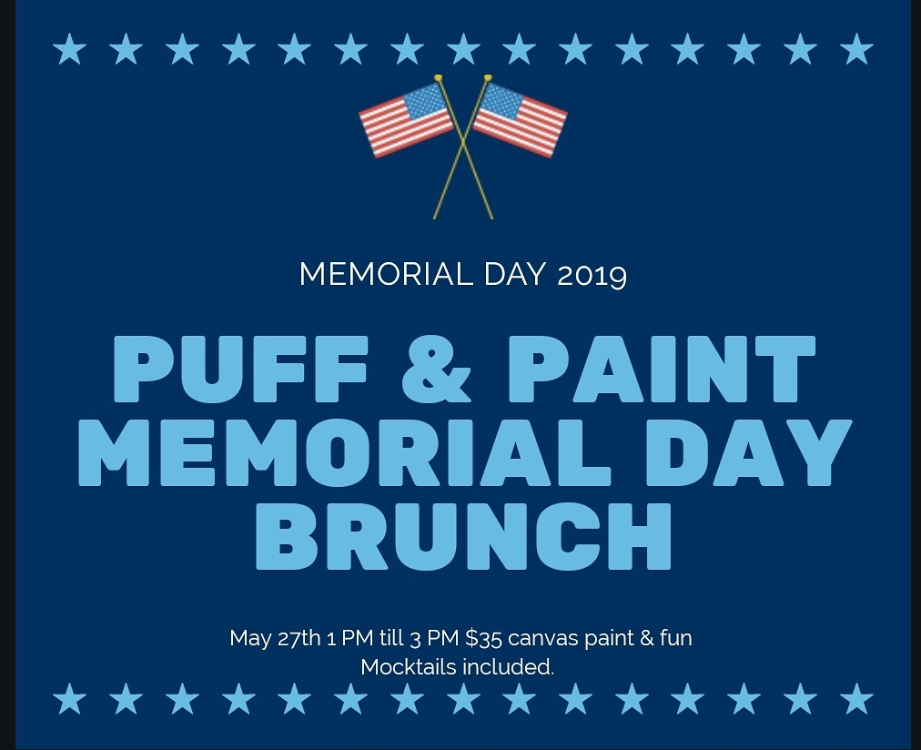 Memorial day puff and paint