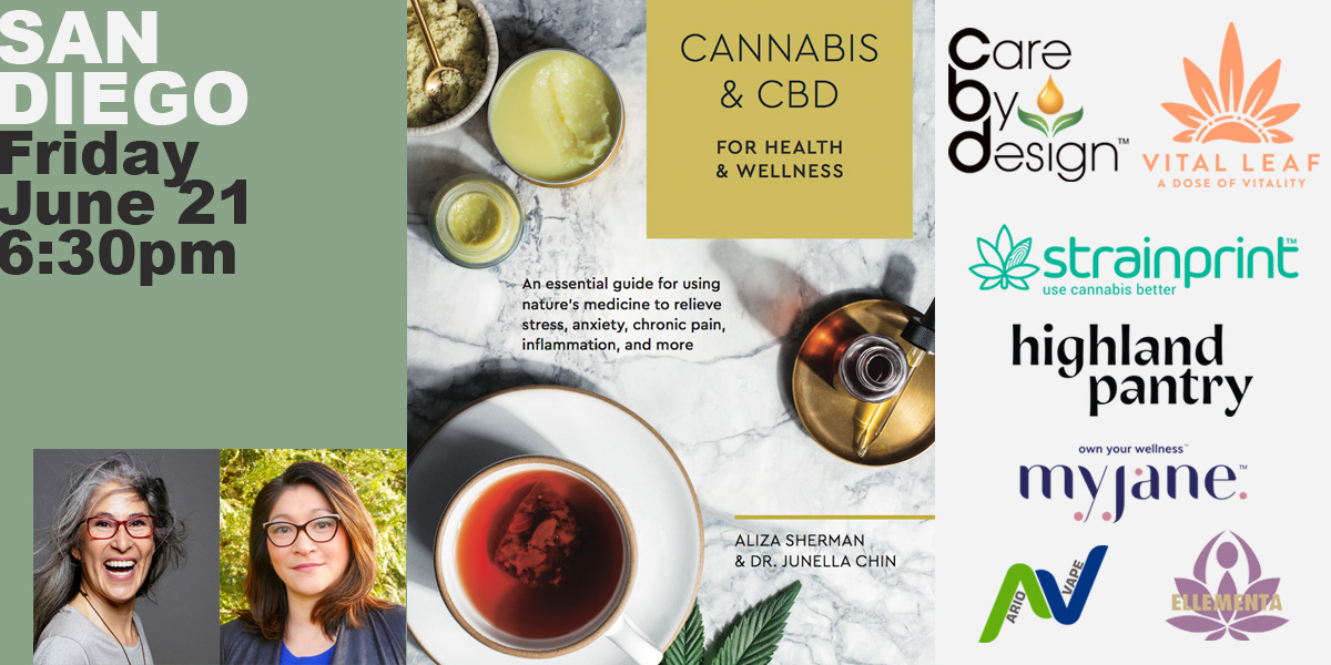 Book Launch Party San Diego: Cannabis & CBD for Health & Wellness