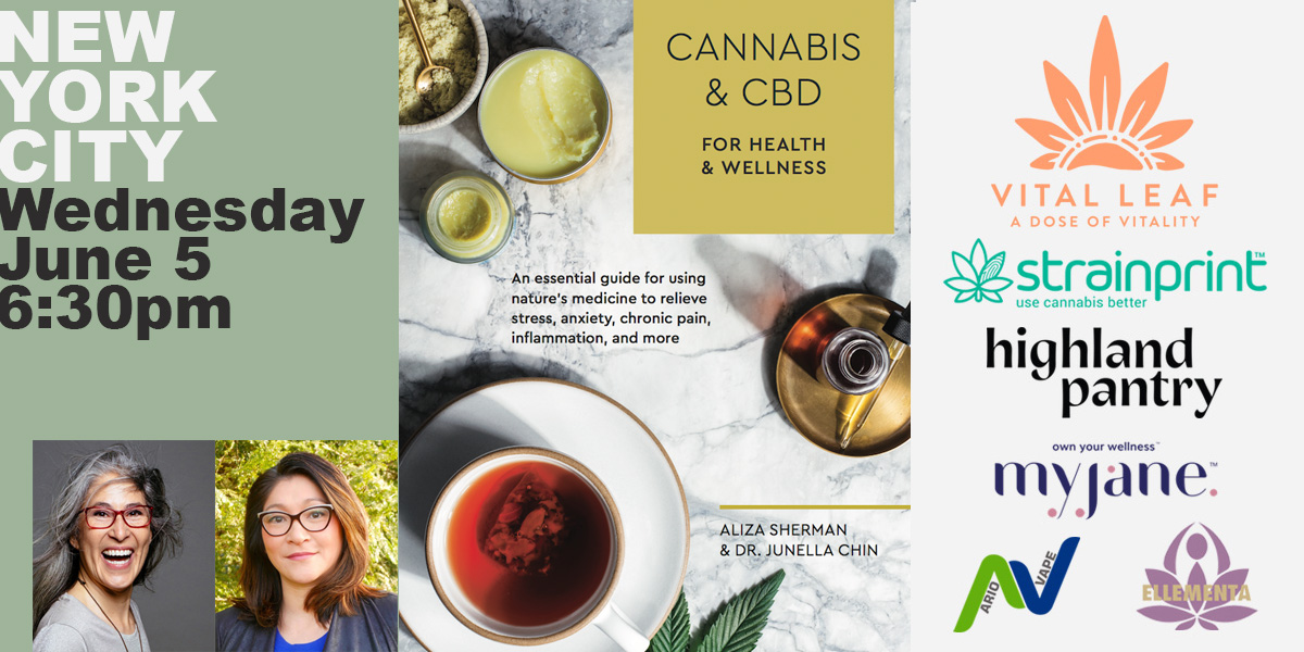 Book Launch Party NYC: Cannabis and CBD for Health and Wellness