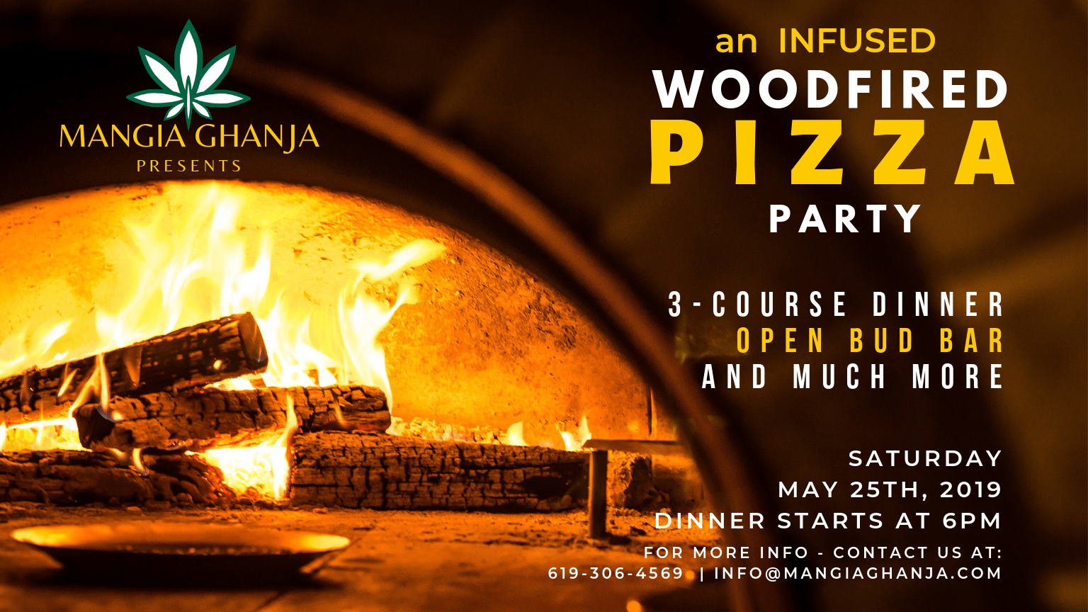 Mangia Ghanja - Woodfired Pizza Party (MGC$10OFF)