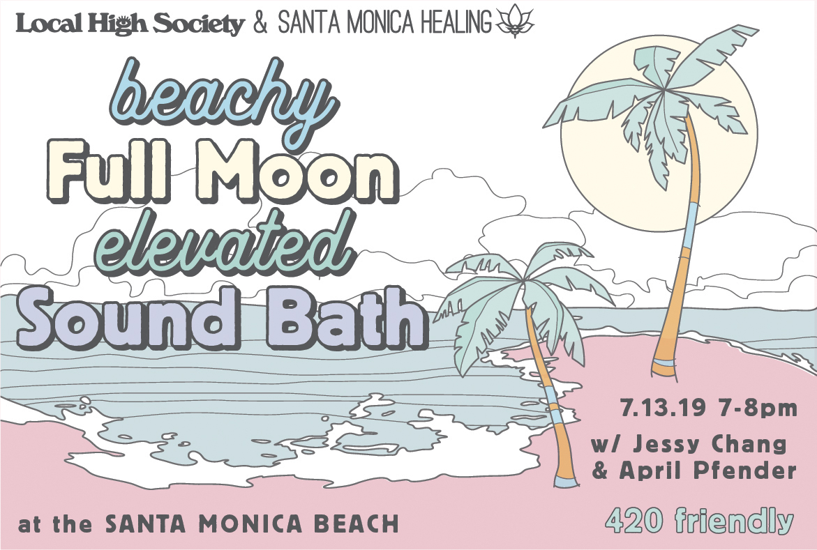 Beach Full Moon Elevated Sound Bath