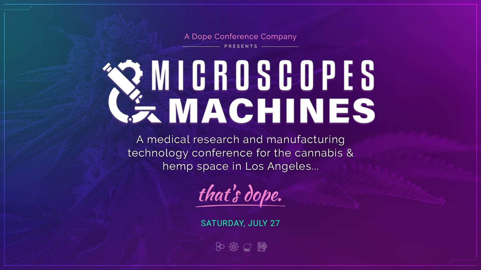 Microscopes and Machines