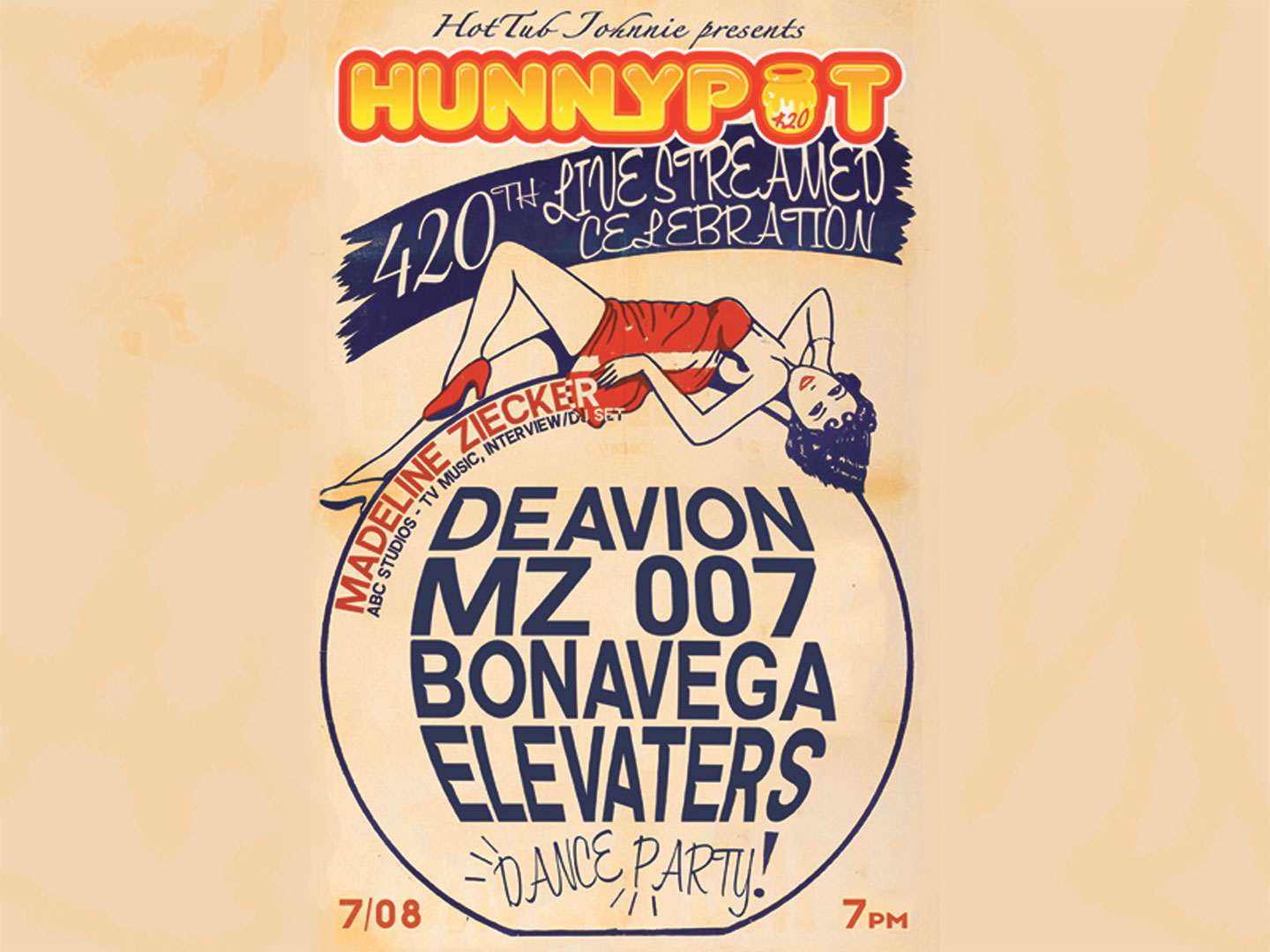Hunnypot Radio Celebrates 420 Shows! Private GREEN Room Party